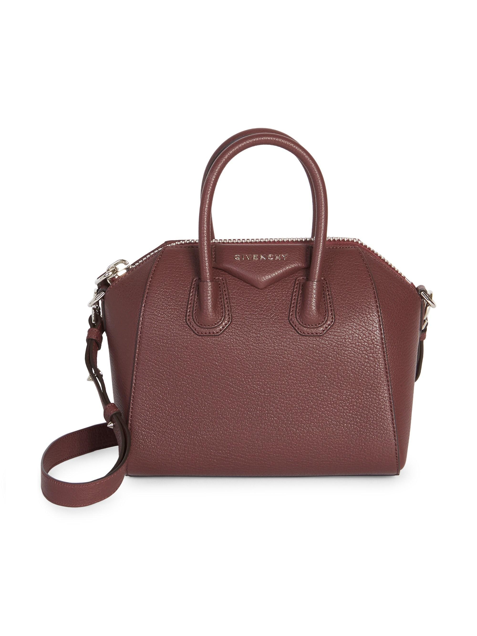 Lyst - Givenchy Antigona Mini Leather Satchel in Purple 9b71ecdec229a