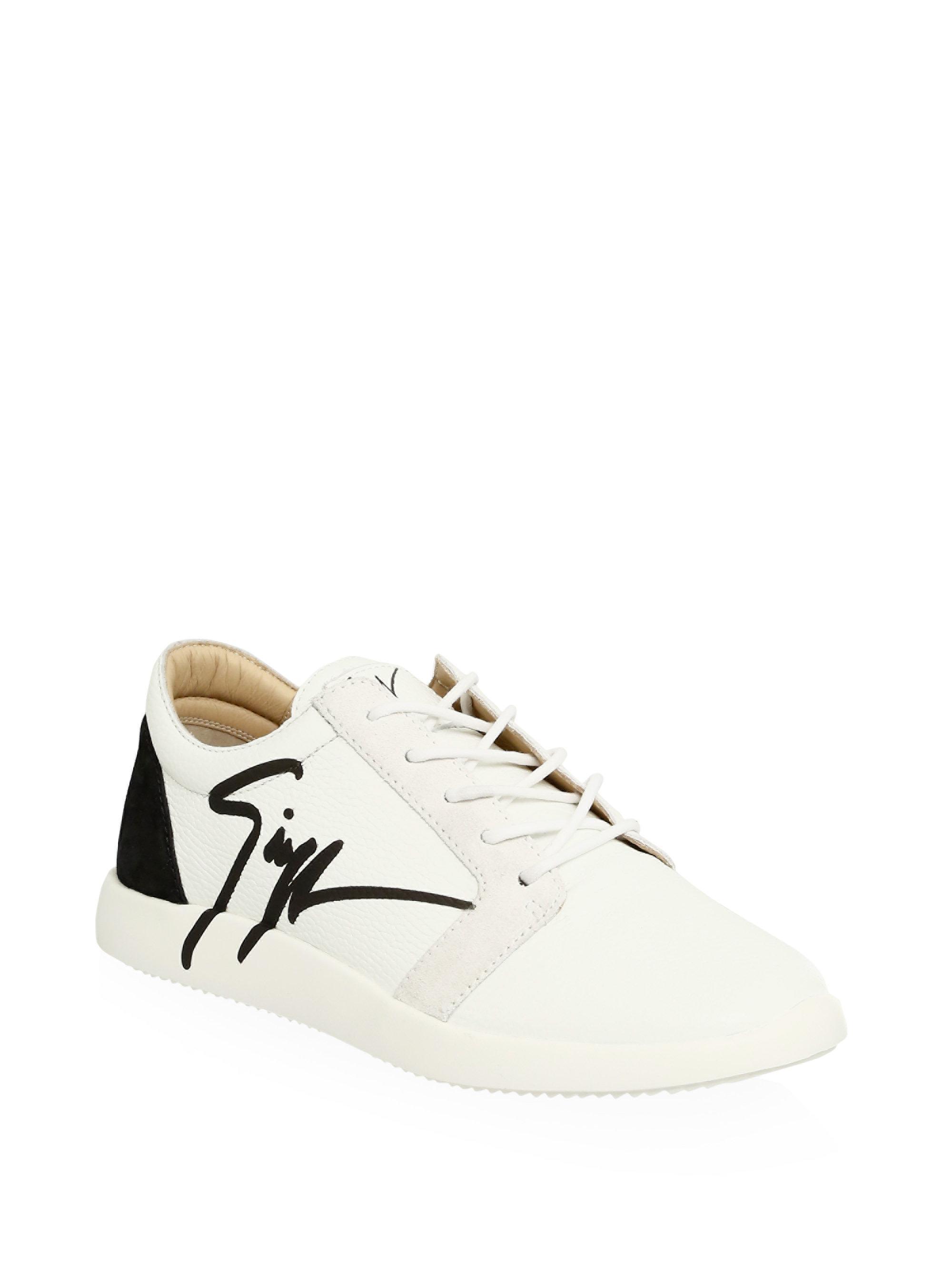 Giuseppe ZanottiColorblock Leather Sneakers 3fGV1NRUA