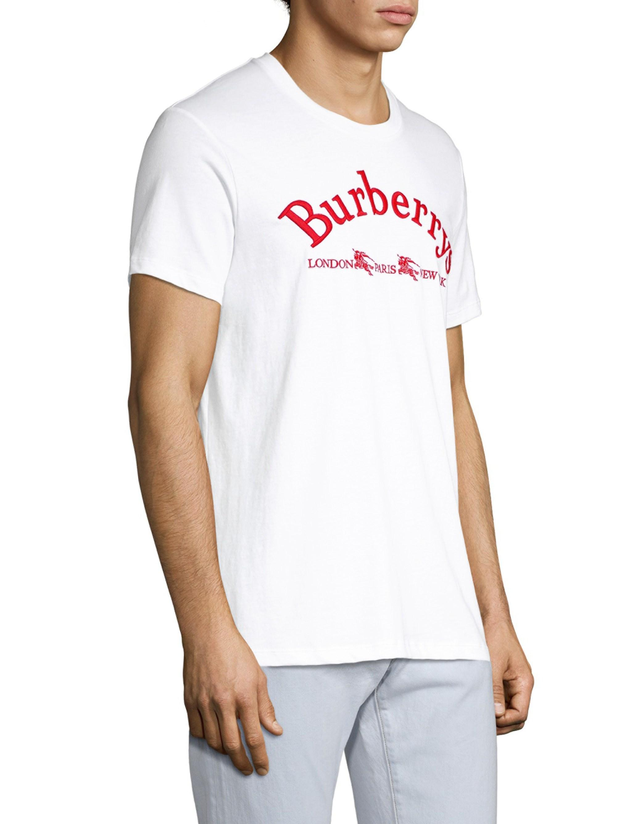 Lyst - Burberry Archive Logo Cotton T-shirt in White for Men - Save 7% 15dd45c2572d7