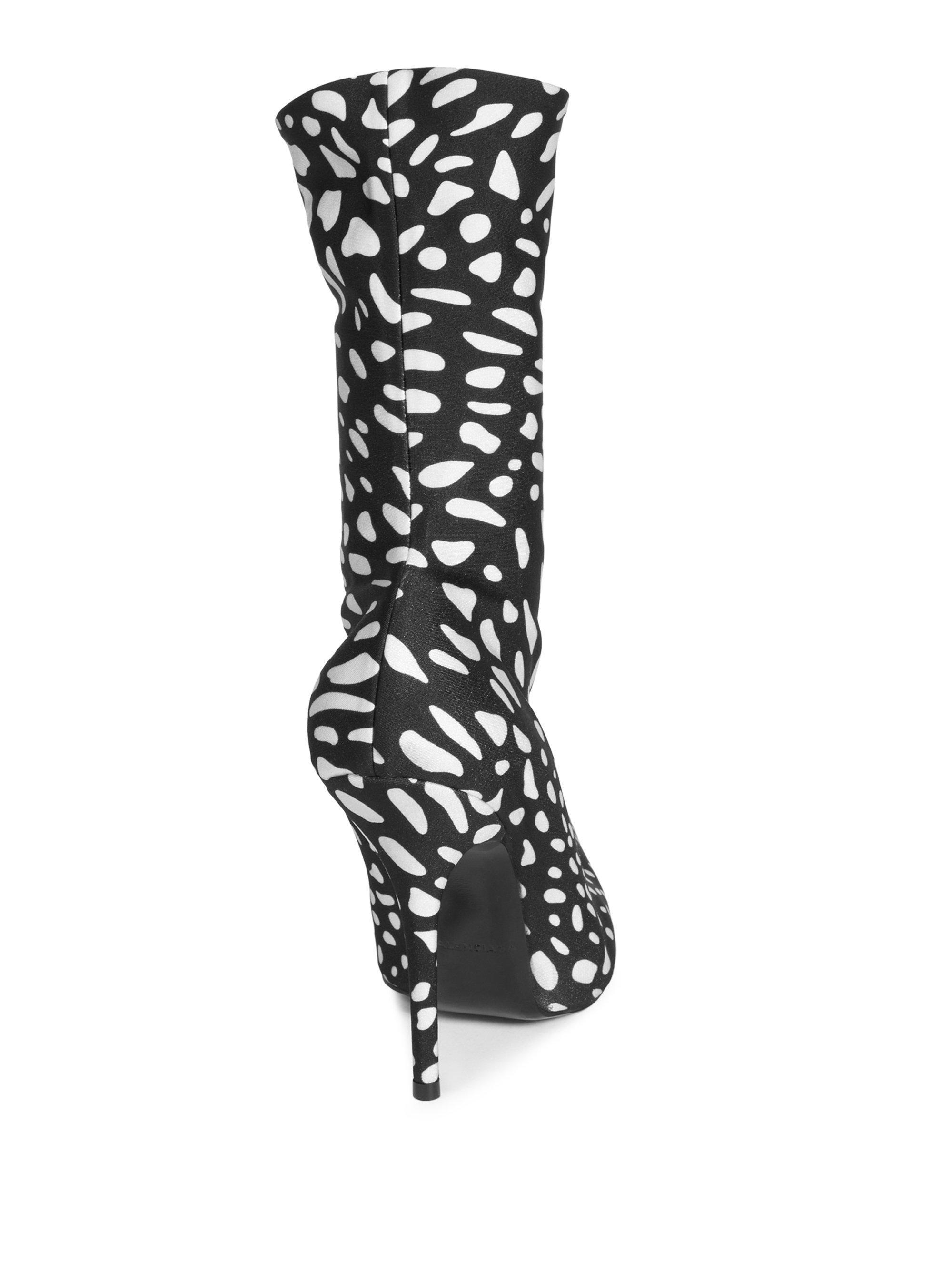 f05b45b72f66 Balenciaga Animal-print Booties in Black - Lyst