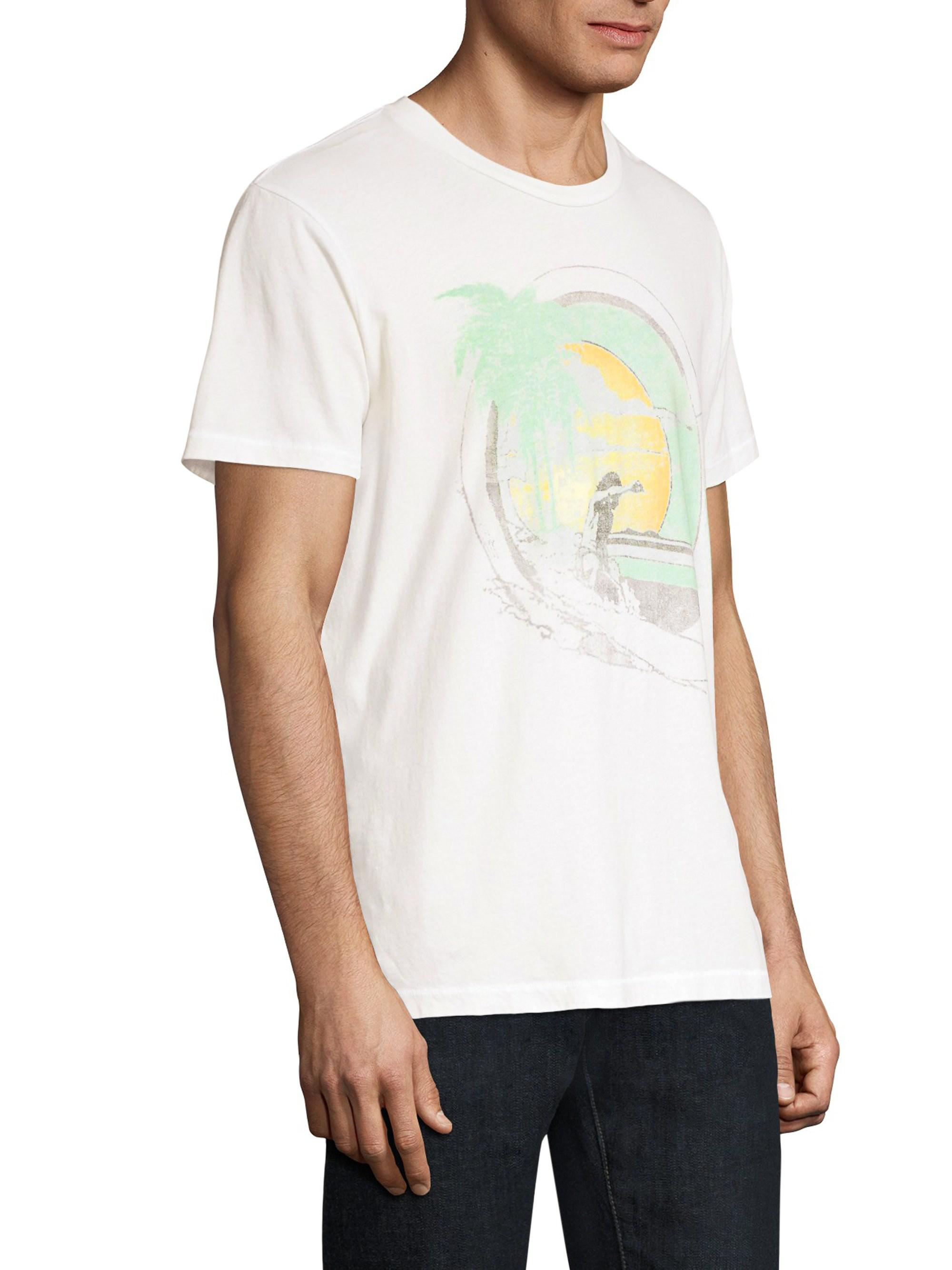 c21058d1 Sol Angeles Slim-fit Graphic Tee in White for Men - Lyst