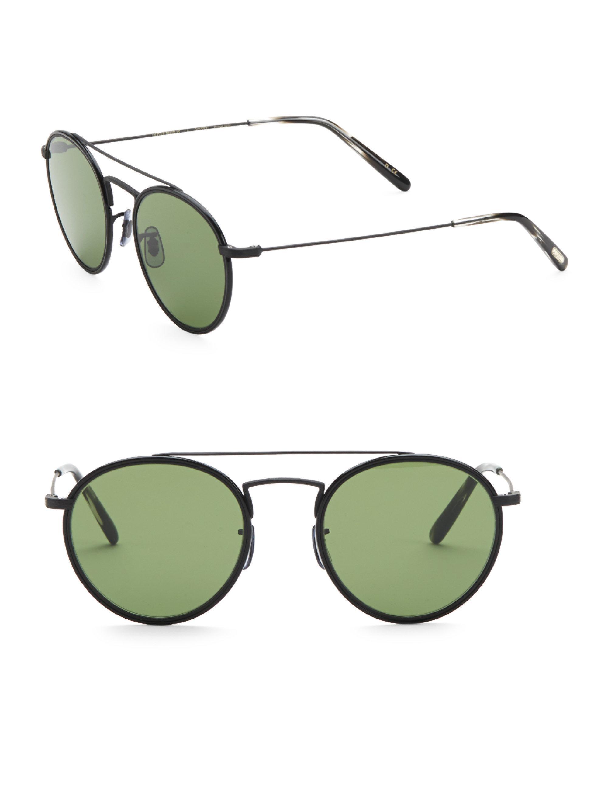 ef3d53bf88af Oliver Peoples Ellice 50mm Oval Sunglasses in Black for Men - Lyst