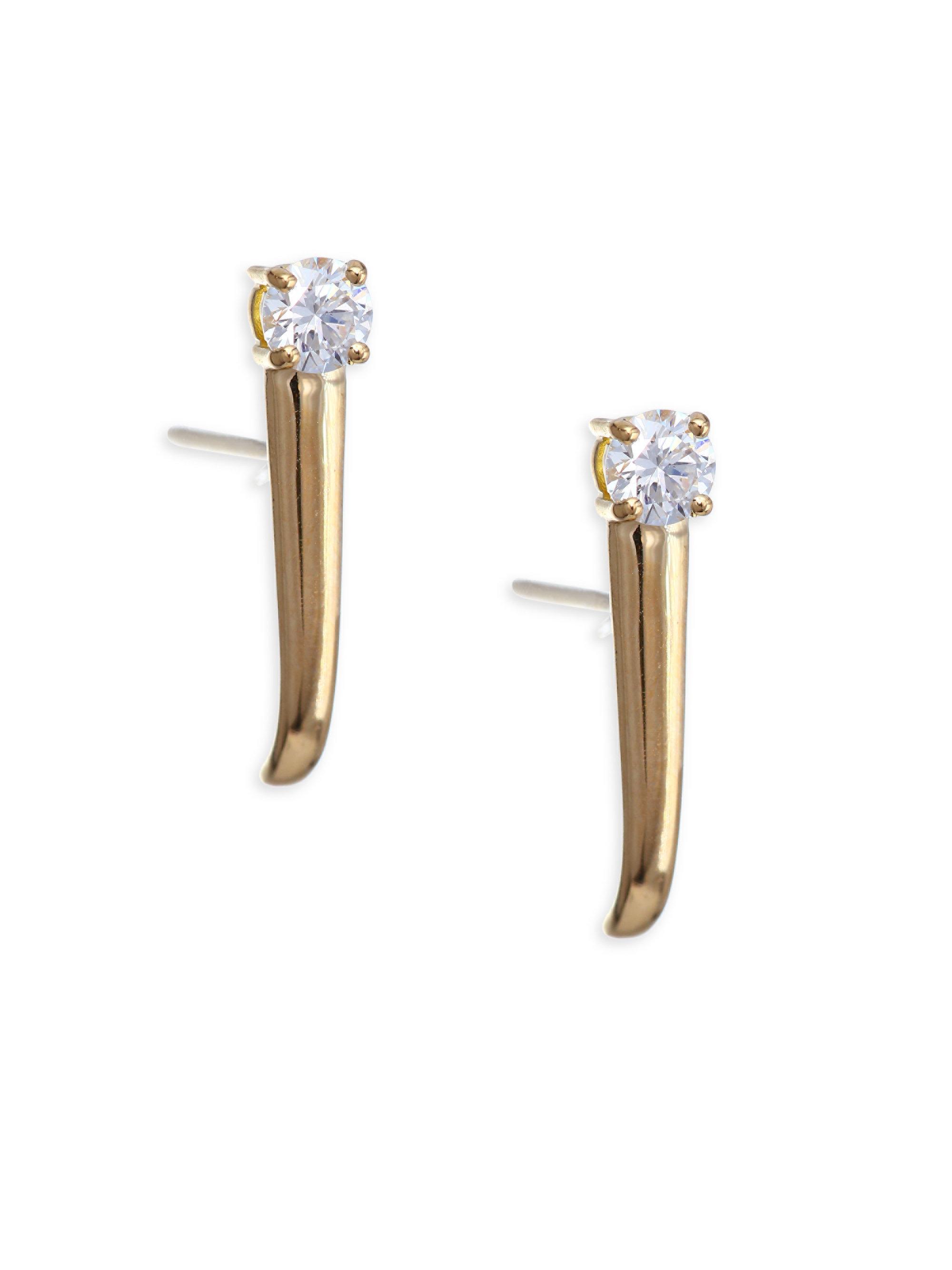 Izzie 18K Gold Diamond Earrings Melissa Kaye mAo9EhM