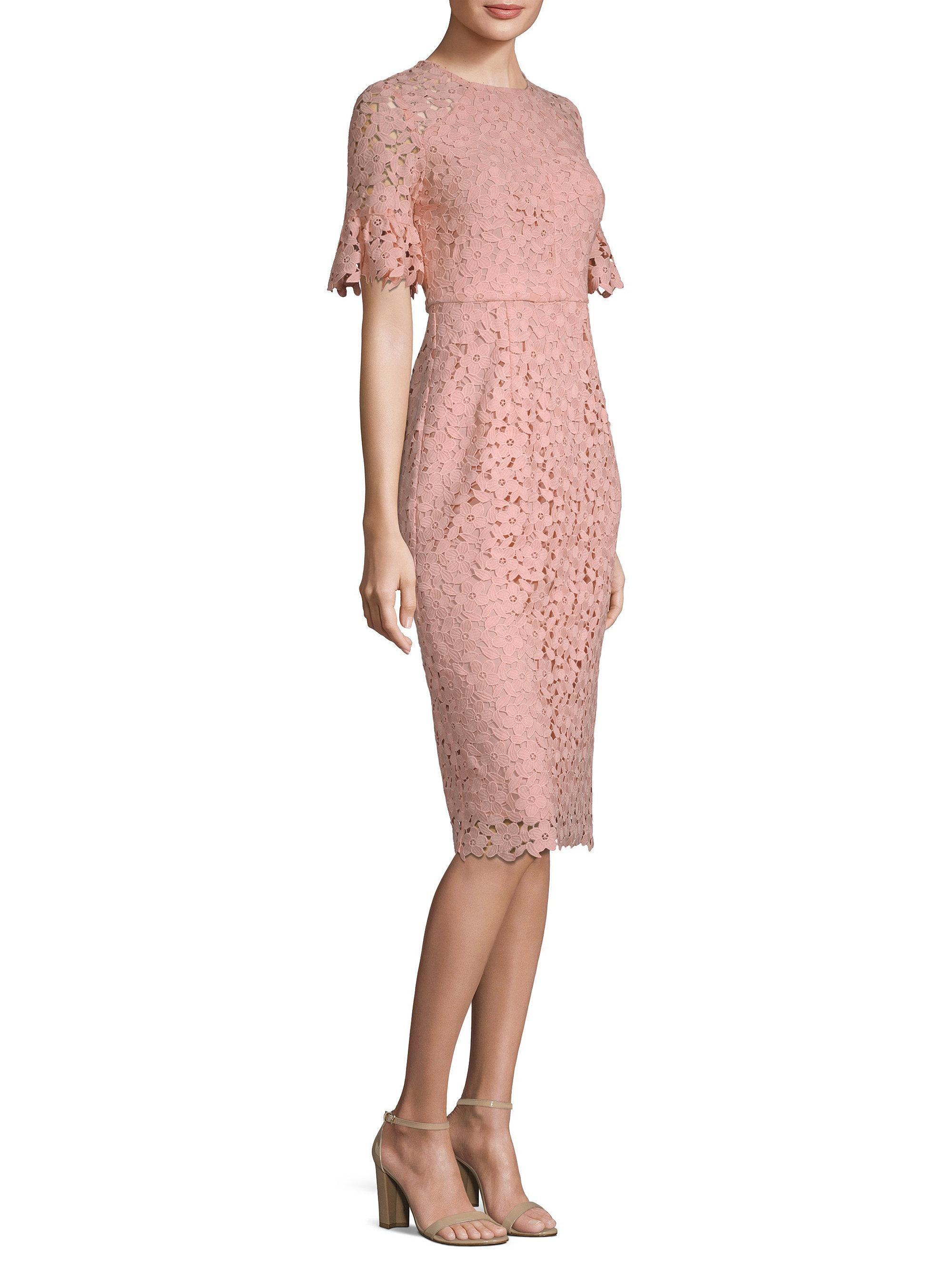 d6747837 Shoshanna Alberti Floral Lace Dress in Pink - Lyst