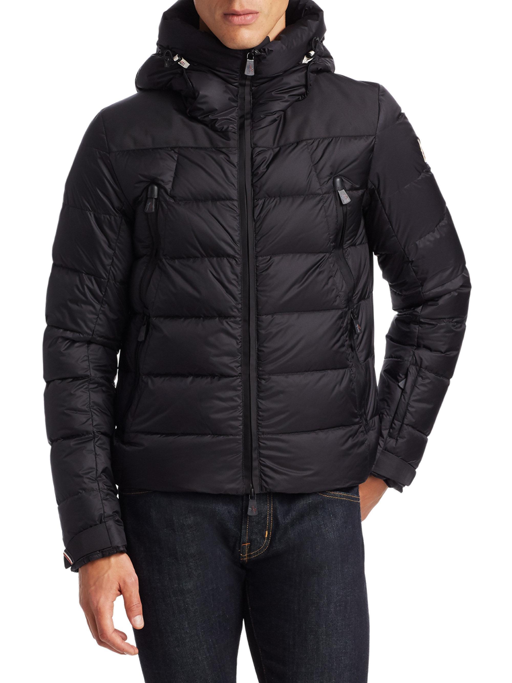 moncler black puffer jacket mens