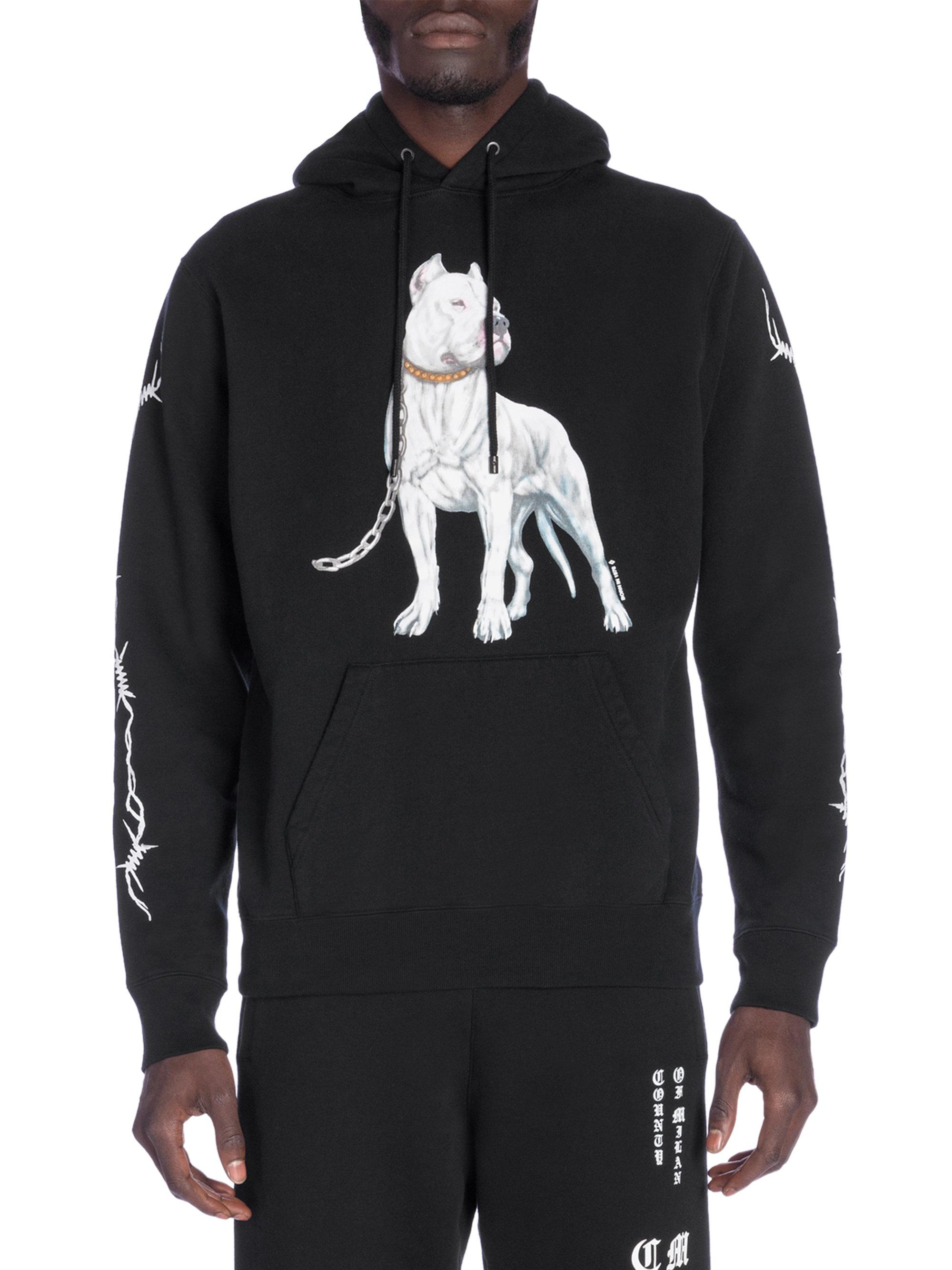 PIT BULL West Coast hooded boxing hoodie black nero