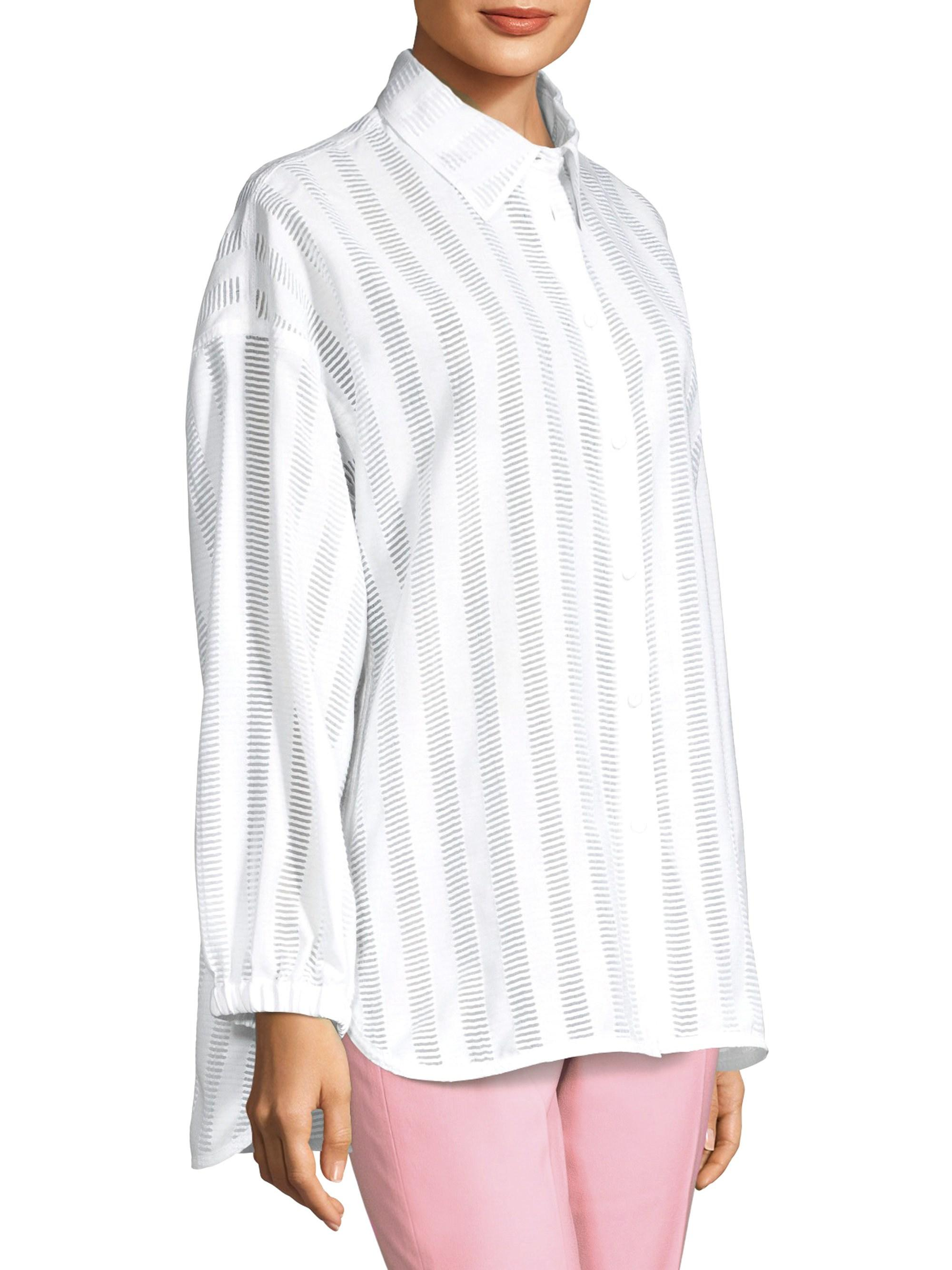 6a1ad2a3621 Lyst - Piazza Sempione Women s Novelty Shirt - White - Size 42 (6) in White  - Save 38%