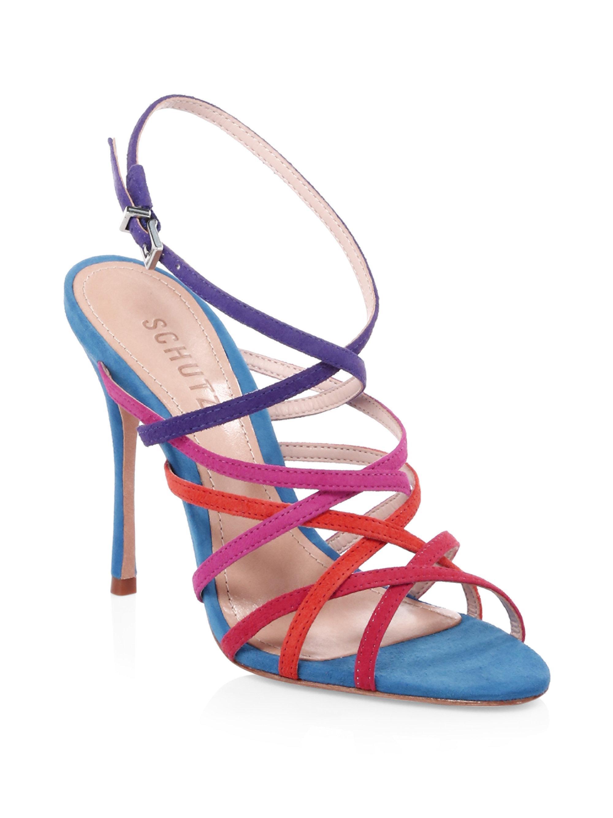 Schutz Lizbeth Suede Ankle-Strap Sandals ZTXG1