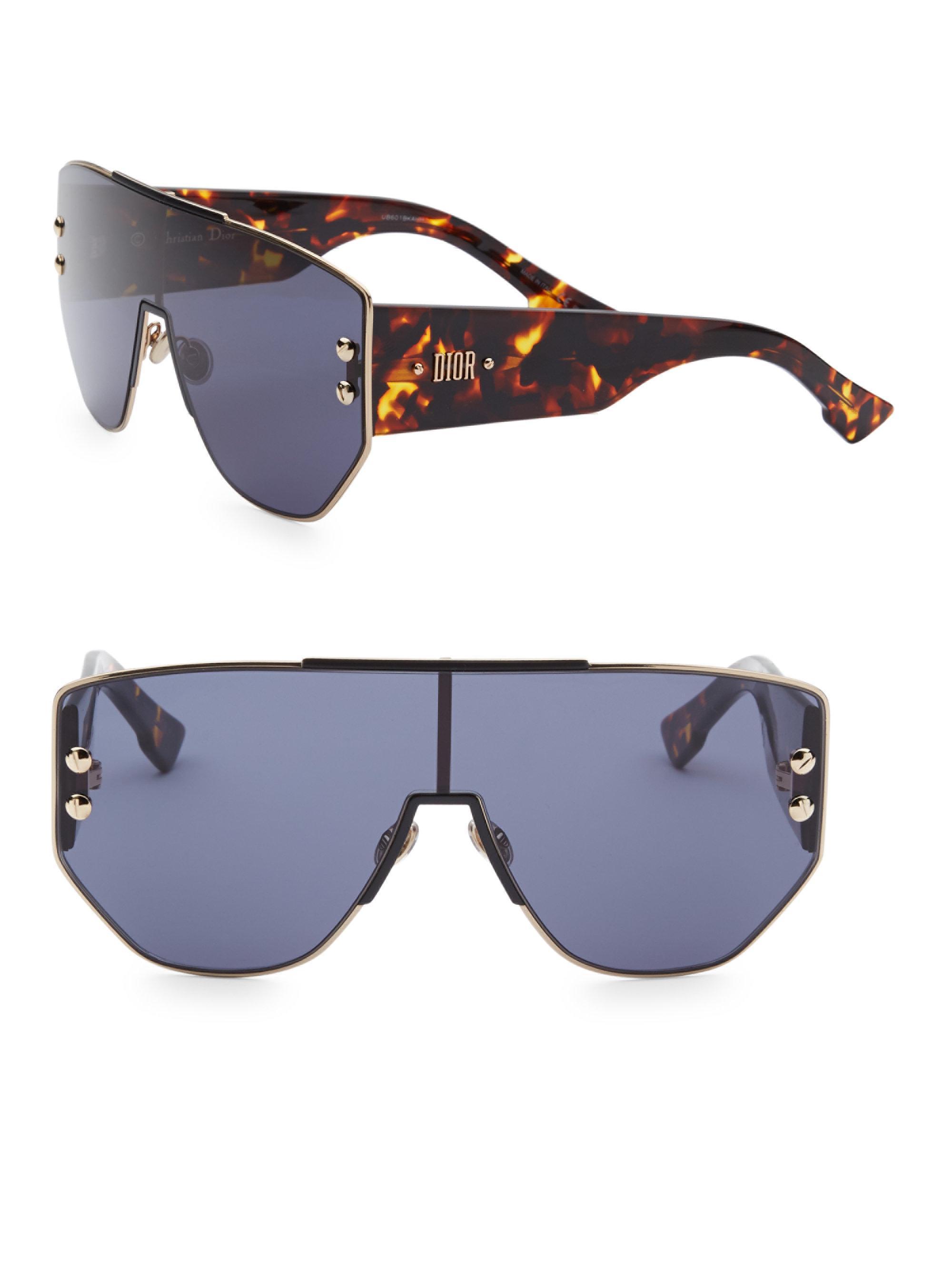 3c0af4db3aff2 Dior 99mm Shield Sunglasses in Blue - Lyst