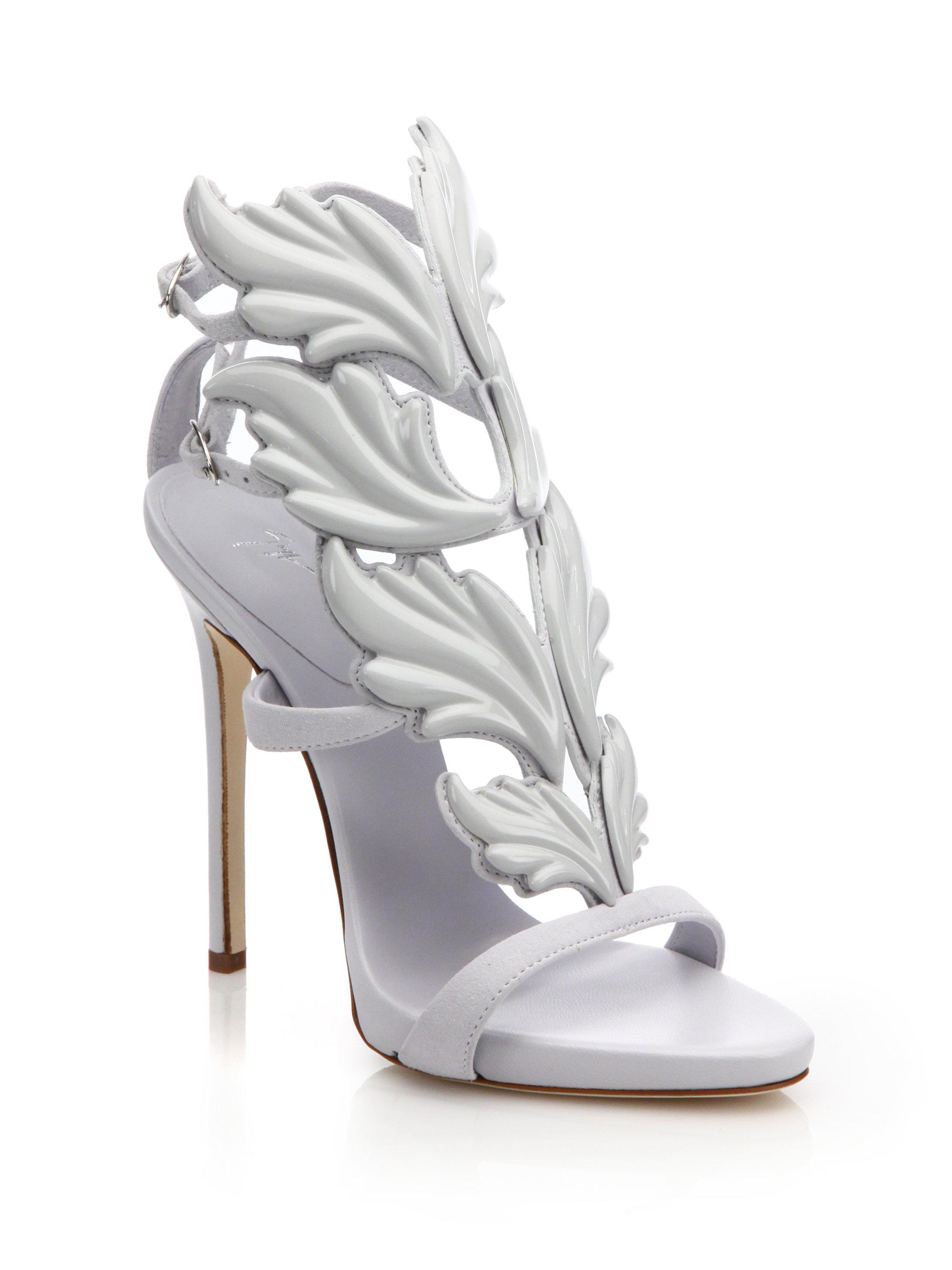 Lyst - Giuseppe zanotti Cruel Suede Wing Sandals in Metallic