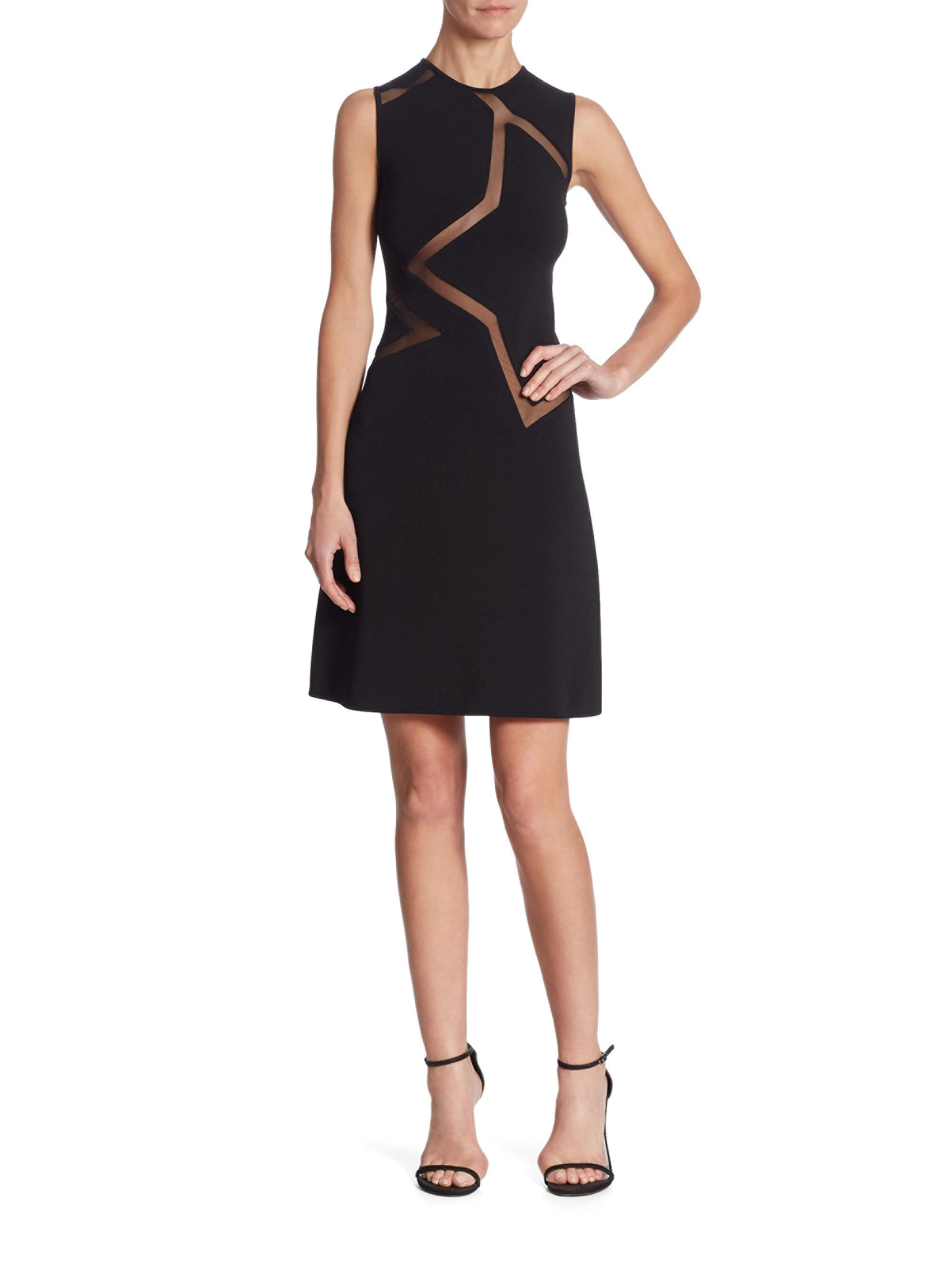 Lyst - Elie Saab Sleeveless Cocktail Dress in Black