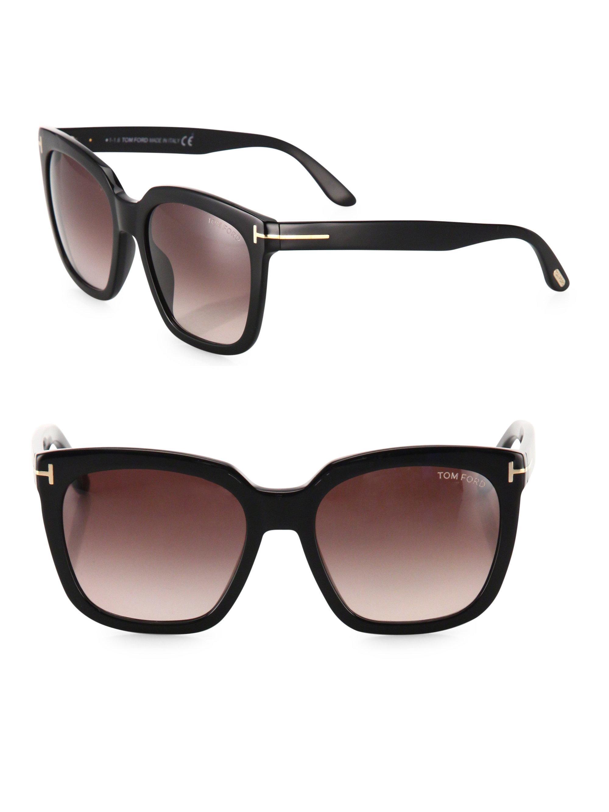 874f0a632950 Tom Ford - Black Amarra 55mm Square Sunglasses - Lyst. View fullscreen