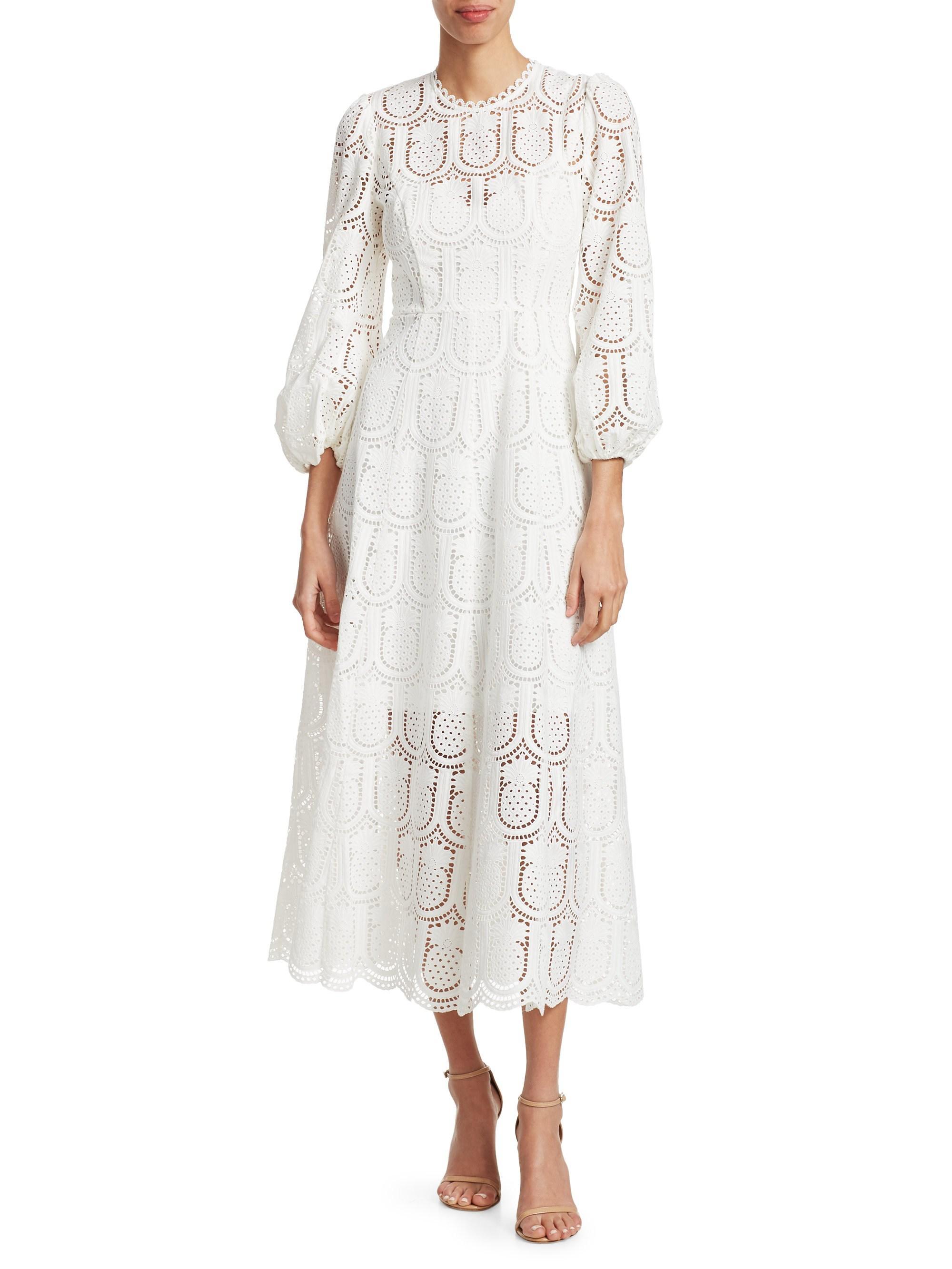 Wayfarer Pinele Lace Midi Dress