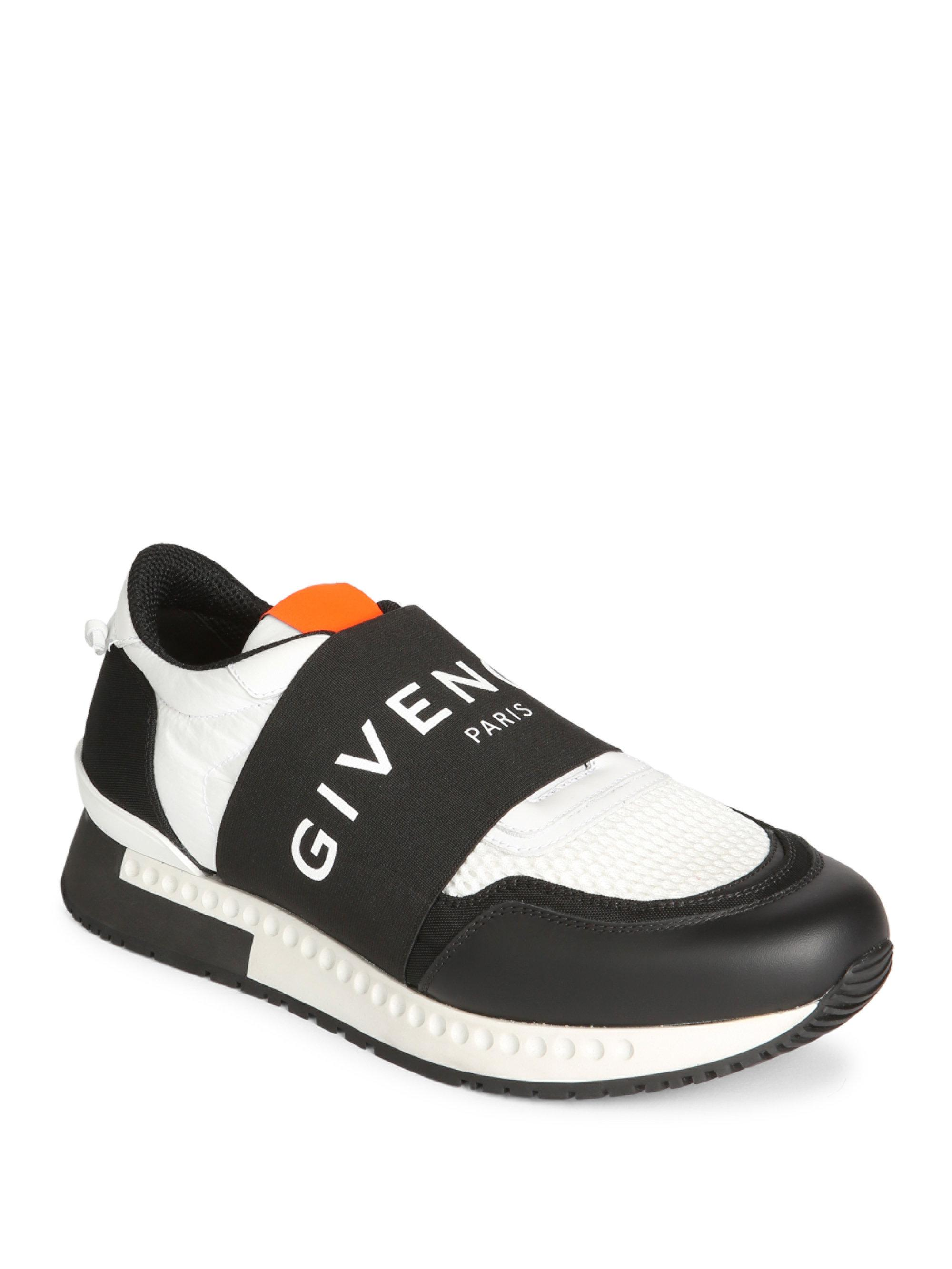 Lyst Givenchy Runner Elastic Logo Sneakers In Black For Men