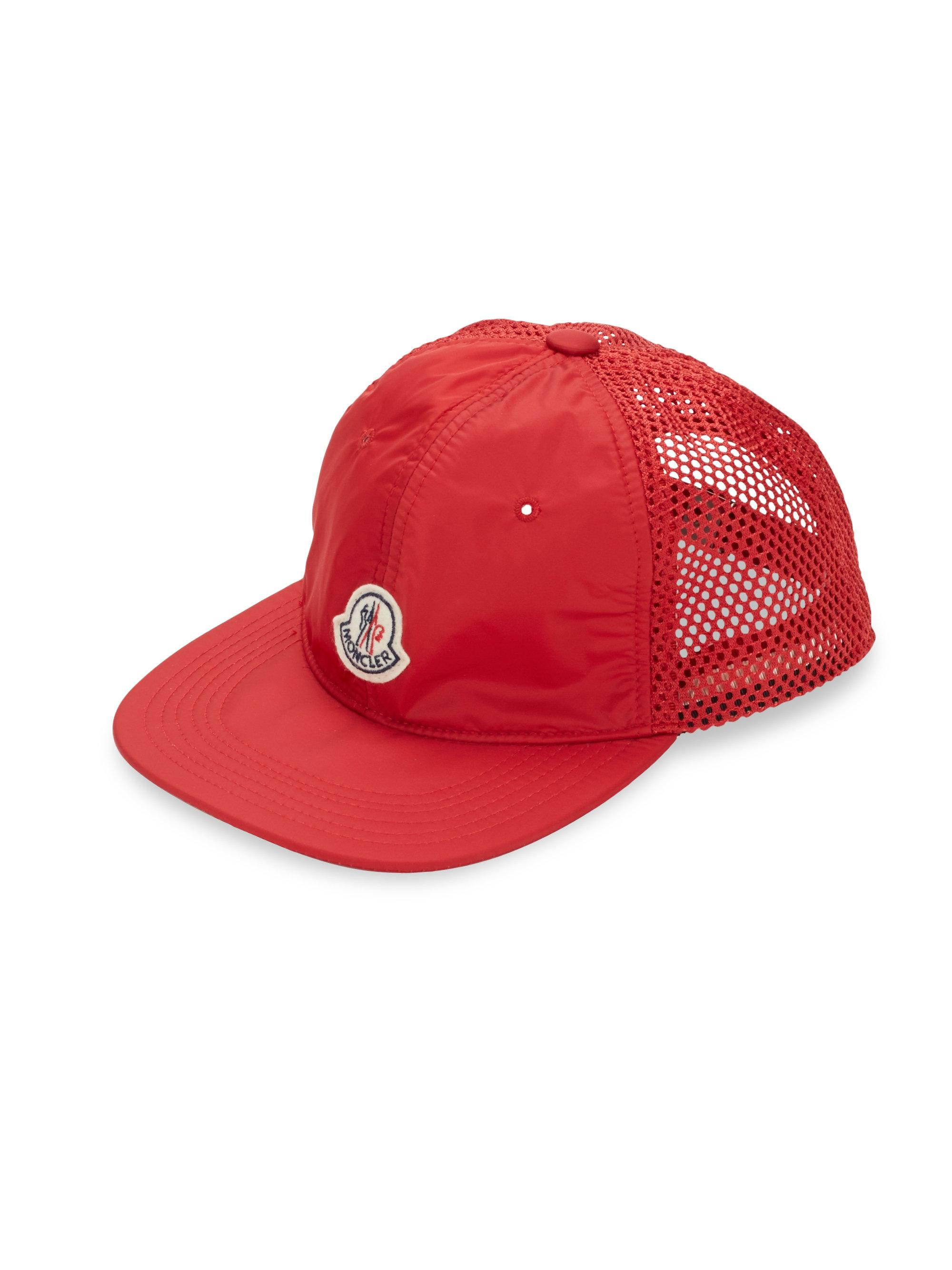 f94d19735d2 Moncler Mesh Woven Hat in Red for Men - Lyst