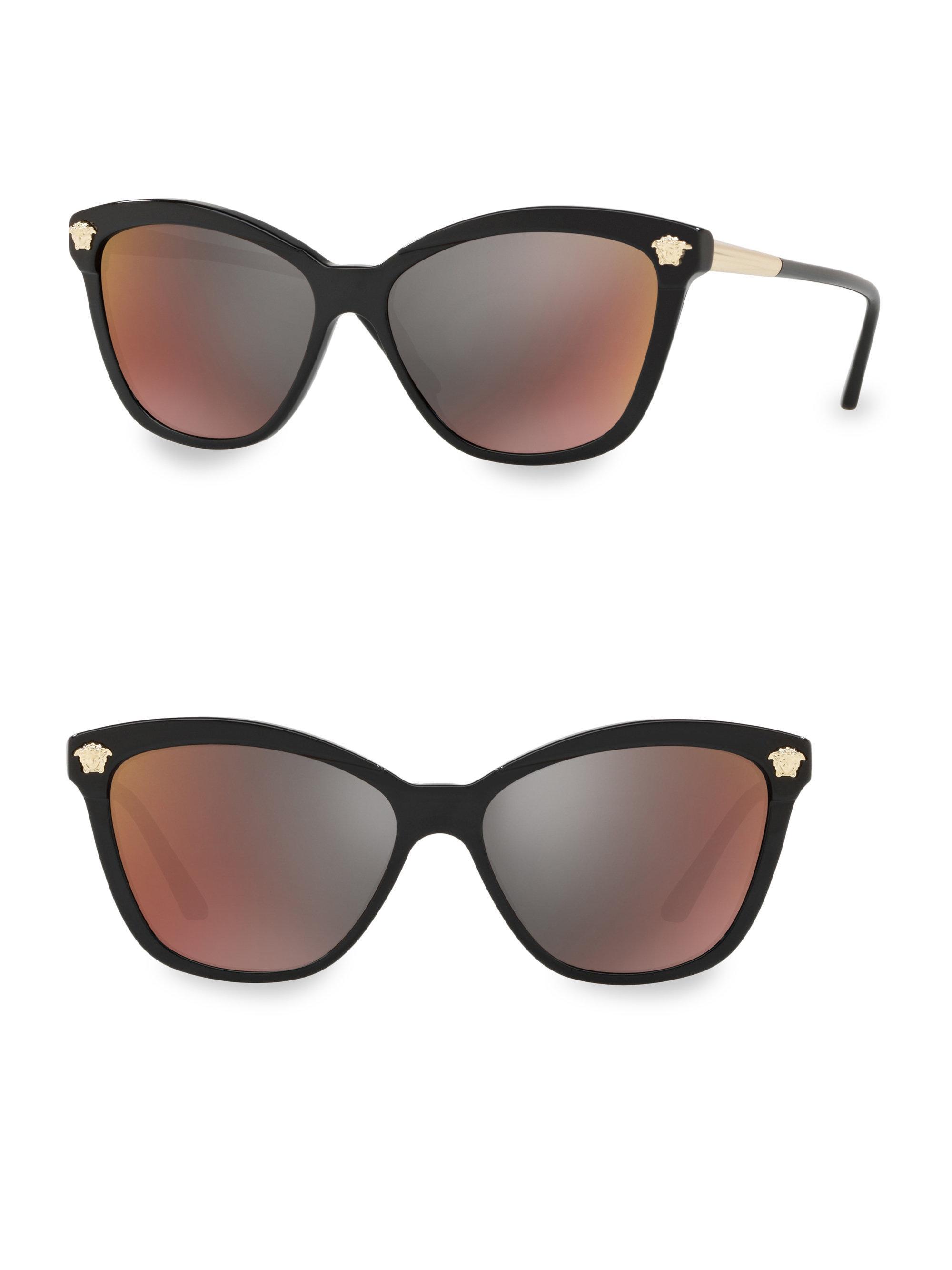 8ea9e2958847 Versace 57mm 4313 Butterfly Sunglasses in Black - Lyst