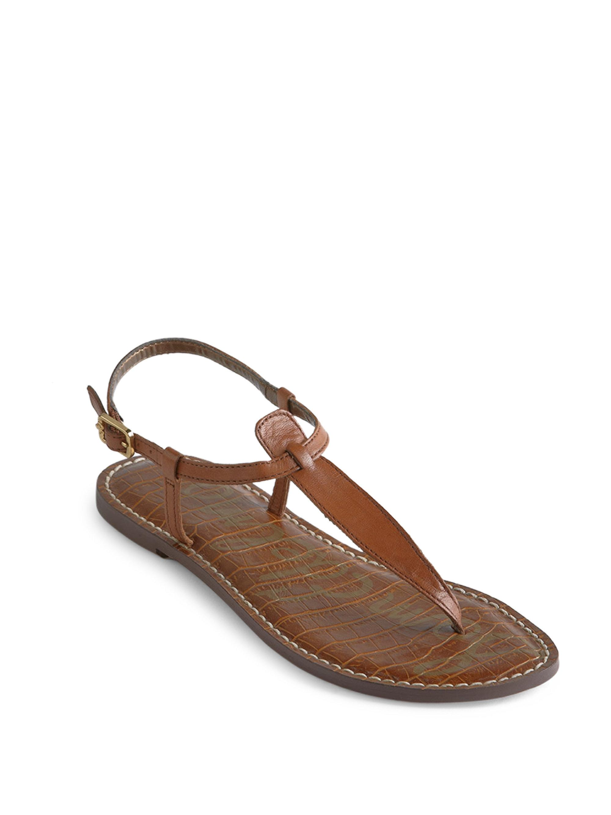 953602639 Lyst - Sam Edelman Gigi T-strap Sandals in Brown - Save ...