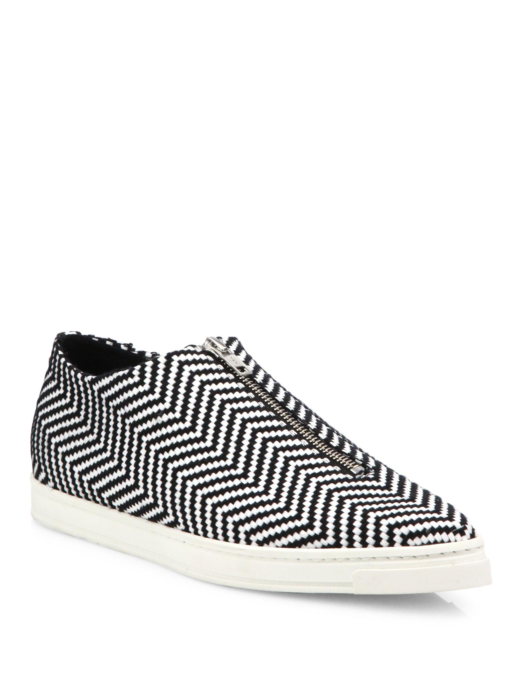 Stella McCartney Sligo Zigzag Zip-Front Sneakers rqmLe0