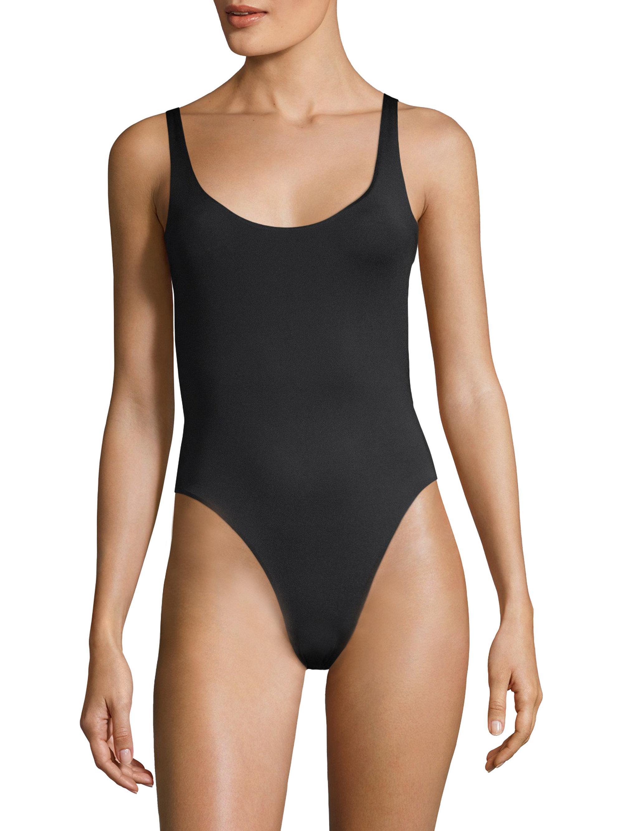 lyst skin lana reversible maillot in black. Black Bedroom Furniture Sets. Home Design Ideas