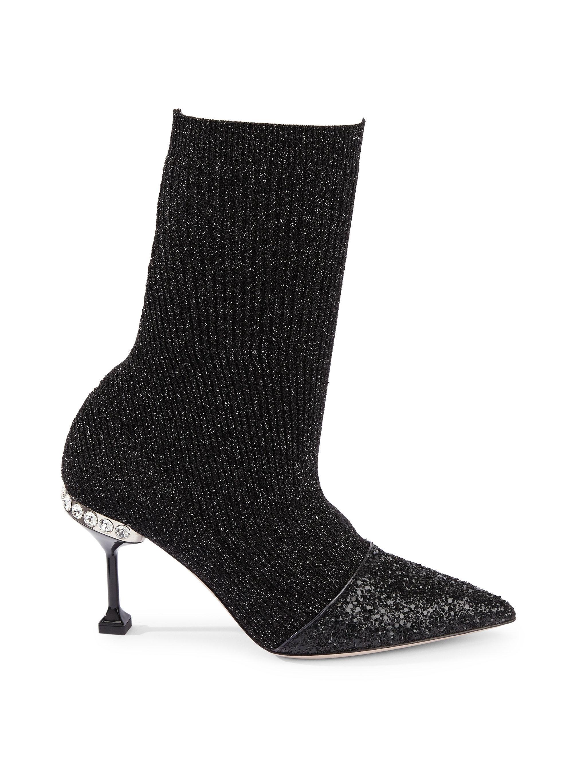 Miu Miu Cap Toe Sock Booties MnAvvmDp1U