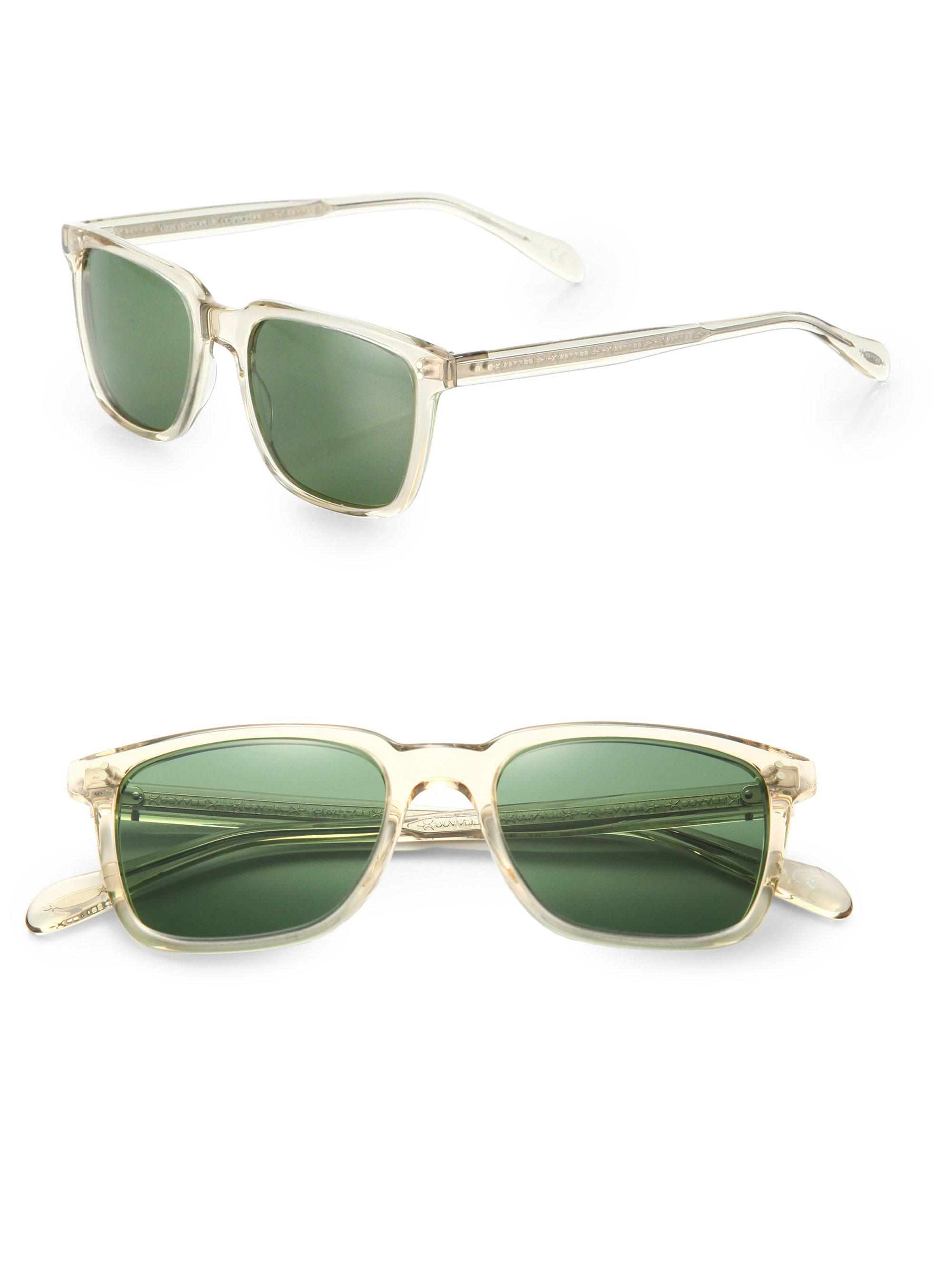 Oliver Peoples Ndg Sun 50mm Acetate Sunglasses In Green