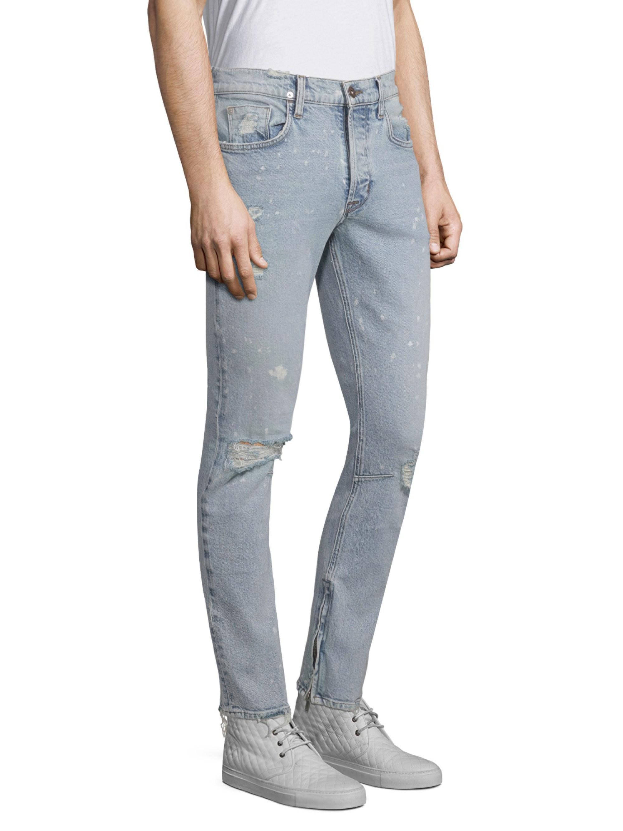 988deb3e4d9 Lyst - Hudson Jeans Men's Vaughn Skinny Cotton Ankle Zip Jeans - Echo Park  - Size 34 in Blue for Men
