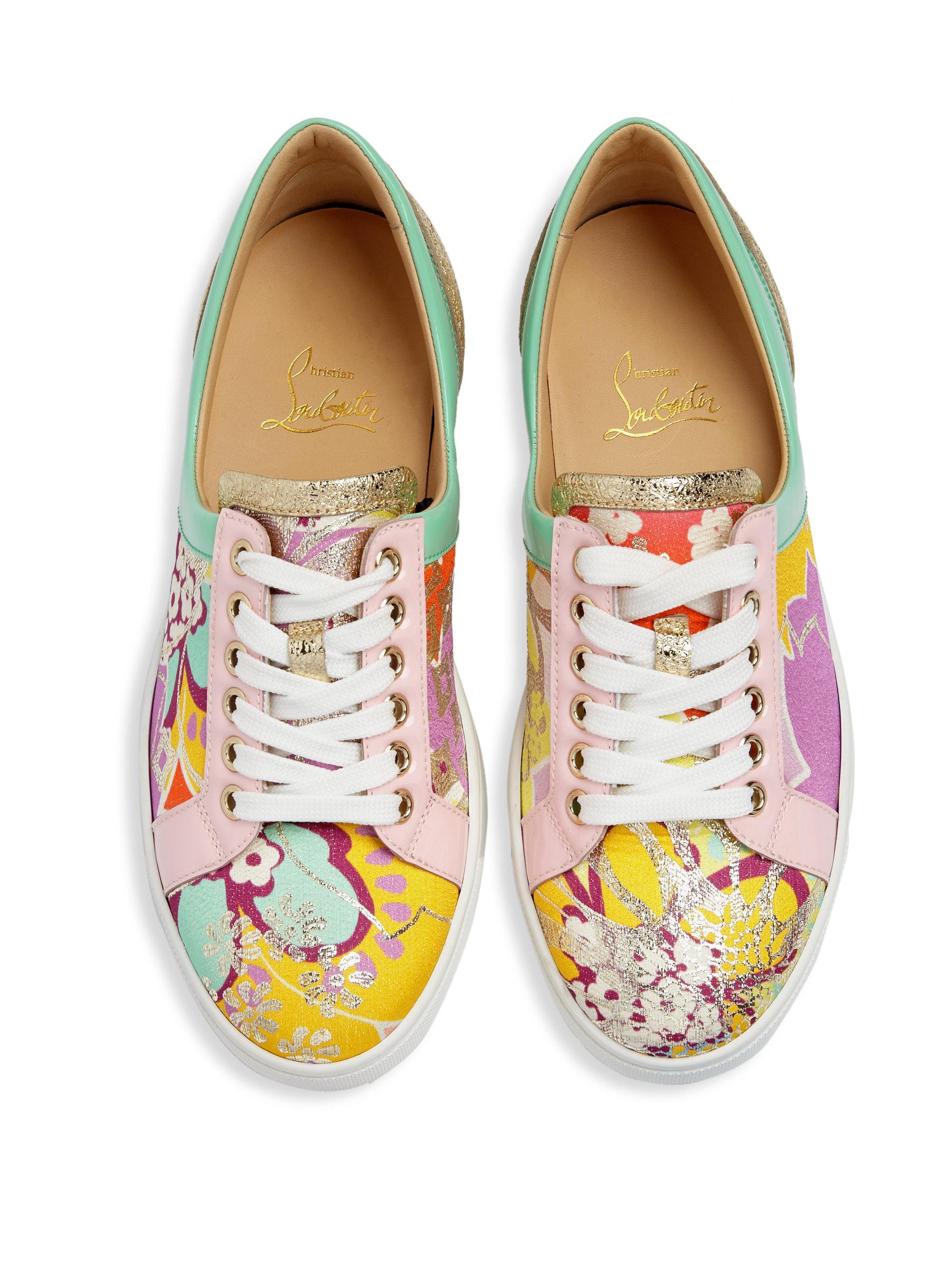 acd51bea45e Christian Louboutin Multicolor Flamingirl Glitter Sneakers