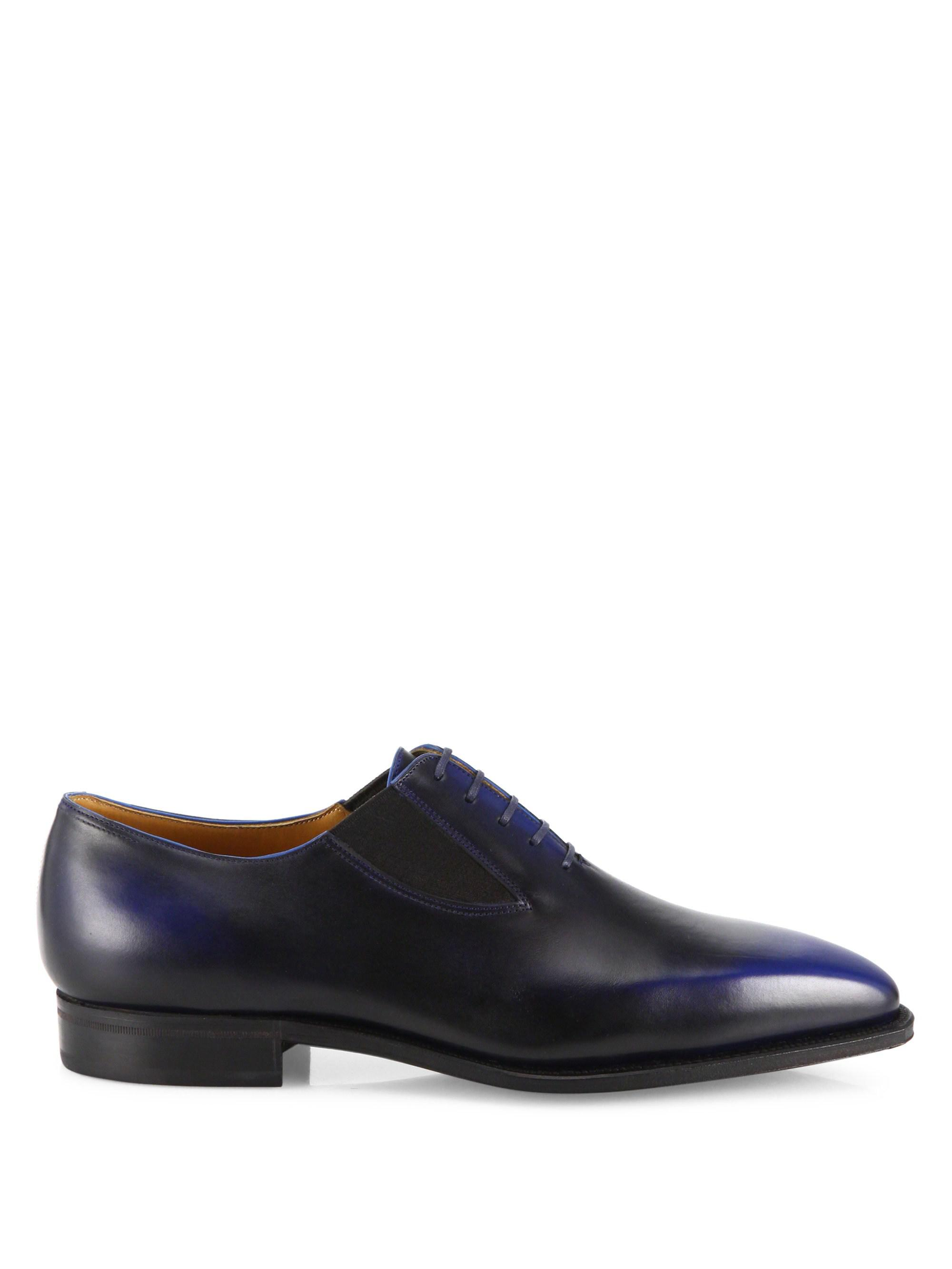 CORTHAY Easy Single-Cut Lace-Up Leather Shoes