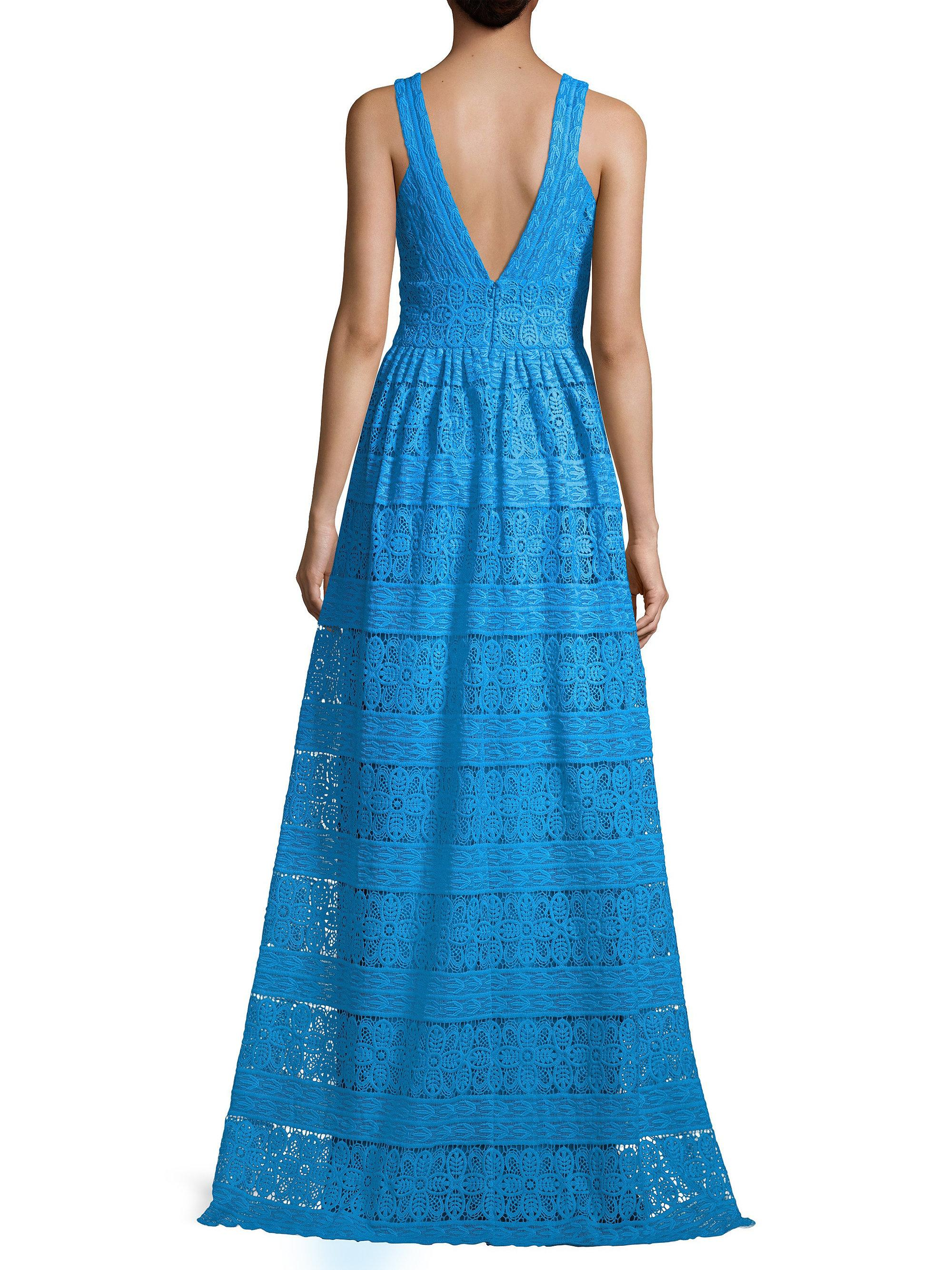 Lace V Neck Gown