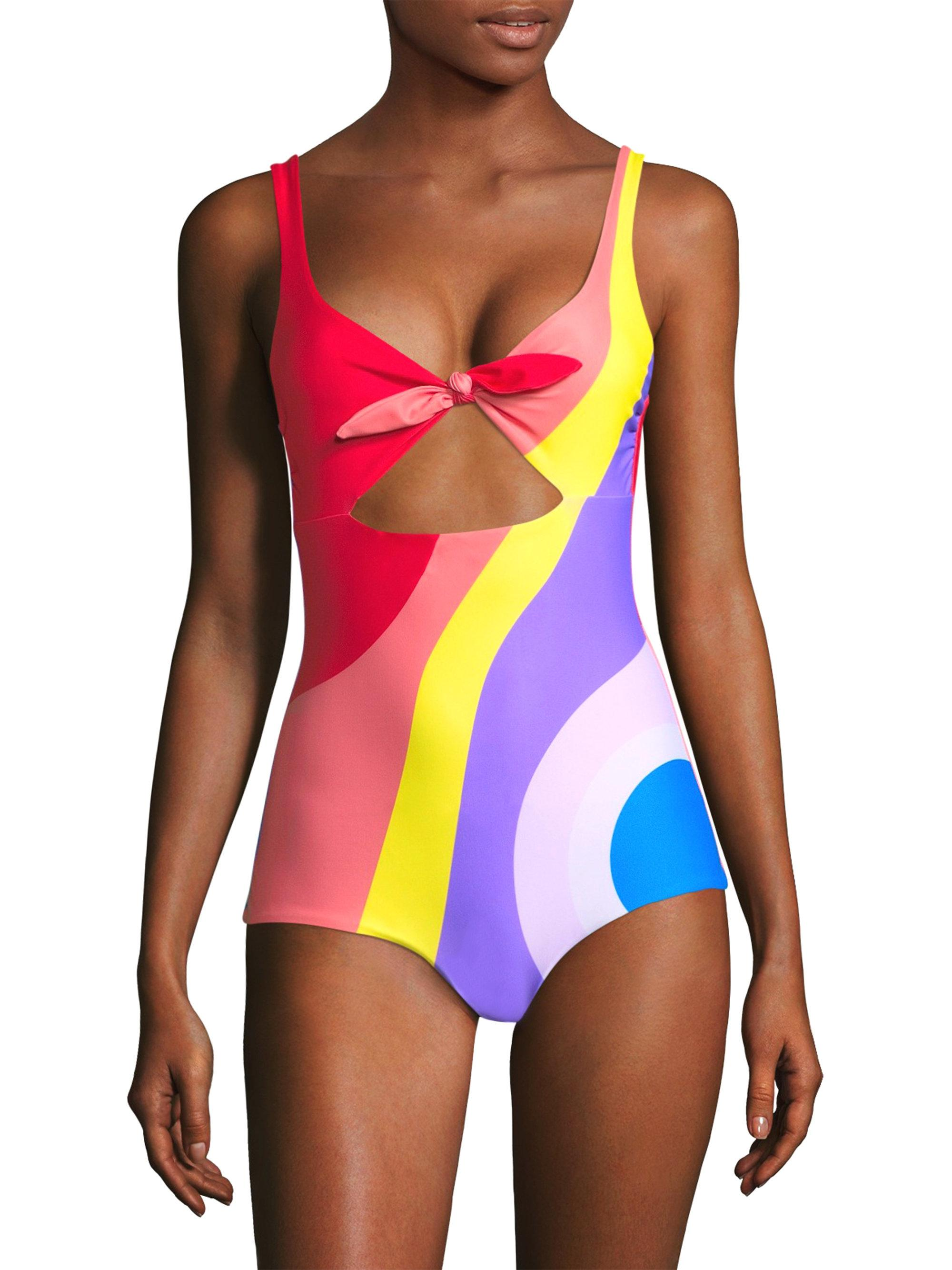 11e33ce923 Lyst - Mara Hoffman Adeline Front Knot One-piece Swimsuit