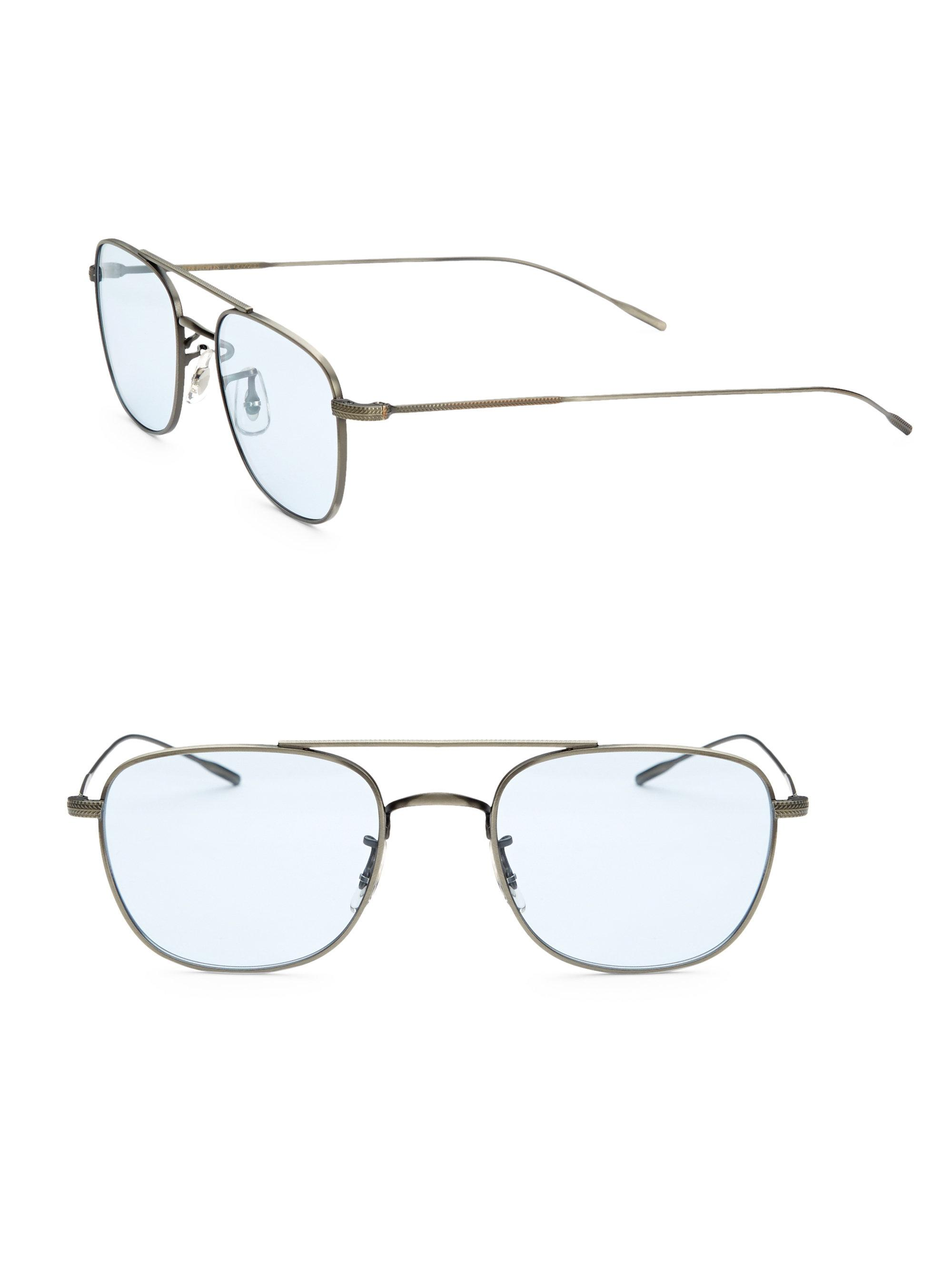 f1ce834ab1 Oliver Peoples Kress 49mm Square Optical Glasses for Men - Lyst