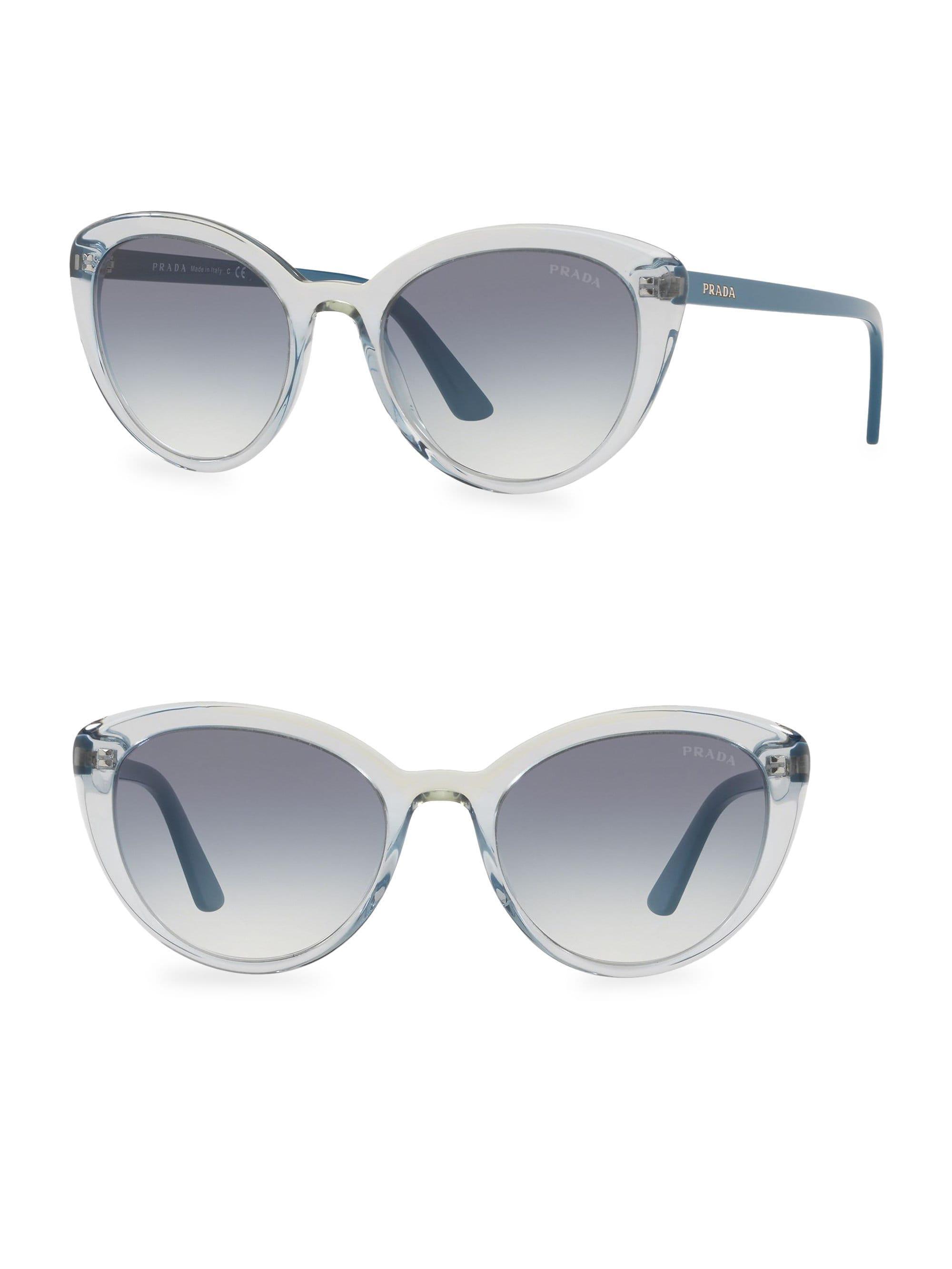 64c873ce24e5 Prada - Gray 54mm Cat Eye Sunglasses - Lyst. View fullscreen