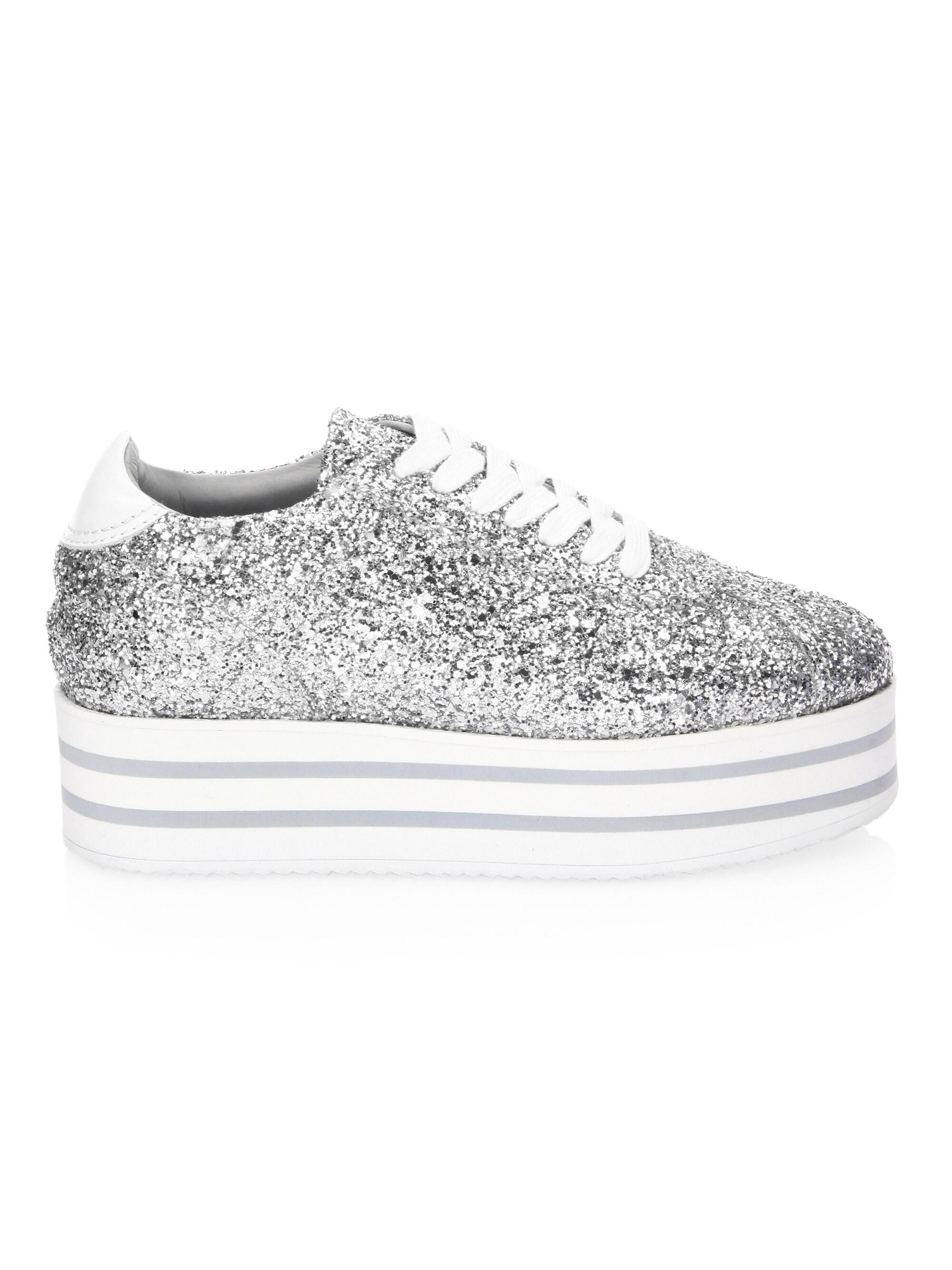 fc8b6e389ab Lyst - Chiara Ferragni Glitter Platform Sneaker in Metallic
