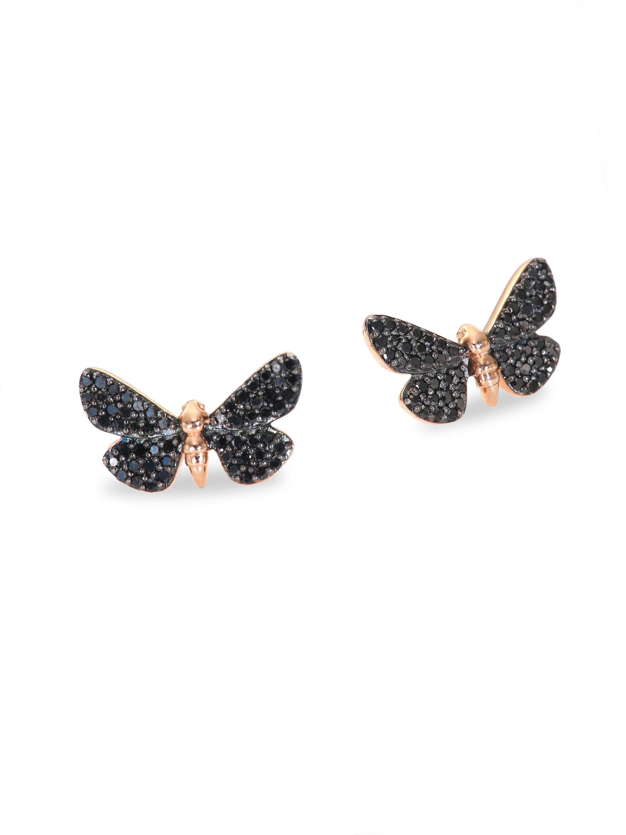 Astley Clarke Cinnabar Moth earrings - Black TRoV3