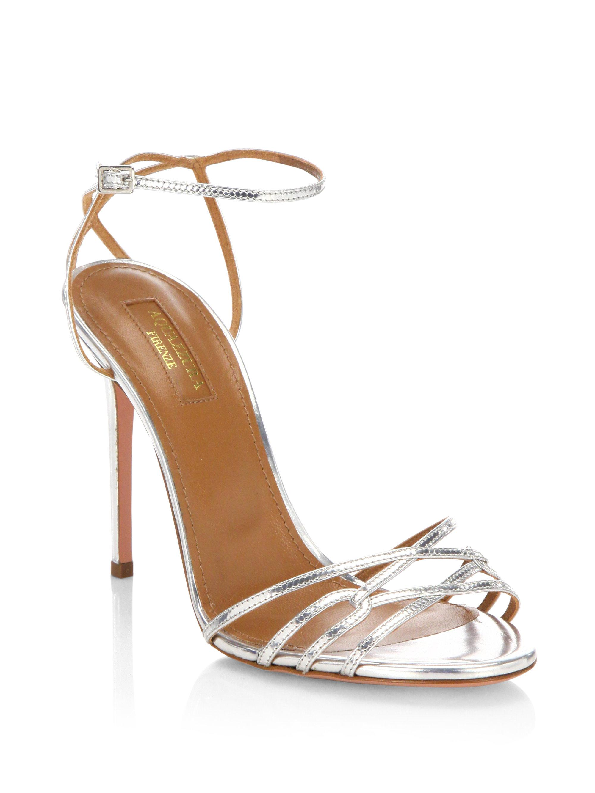 Aquazzura Leather T-Strap Pumps the cheapest sale online PbJuEJ