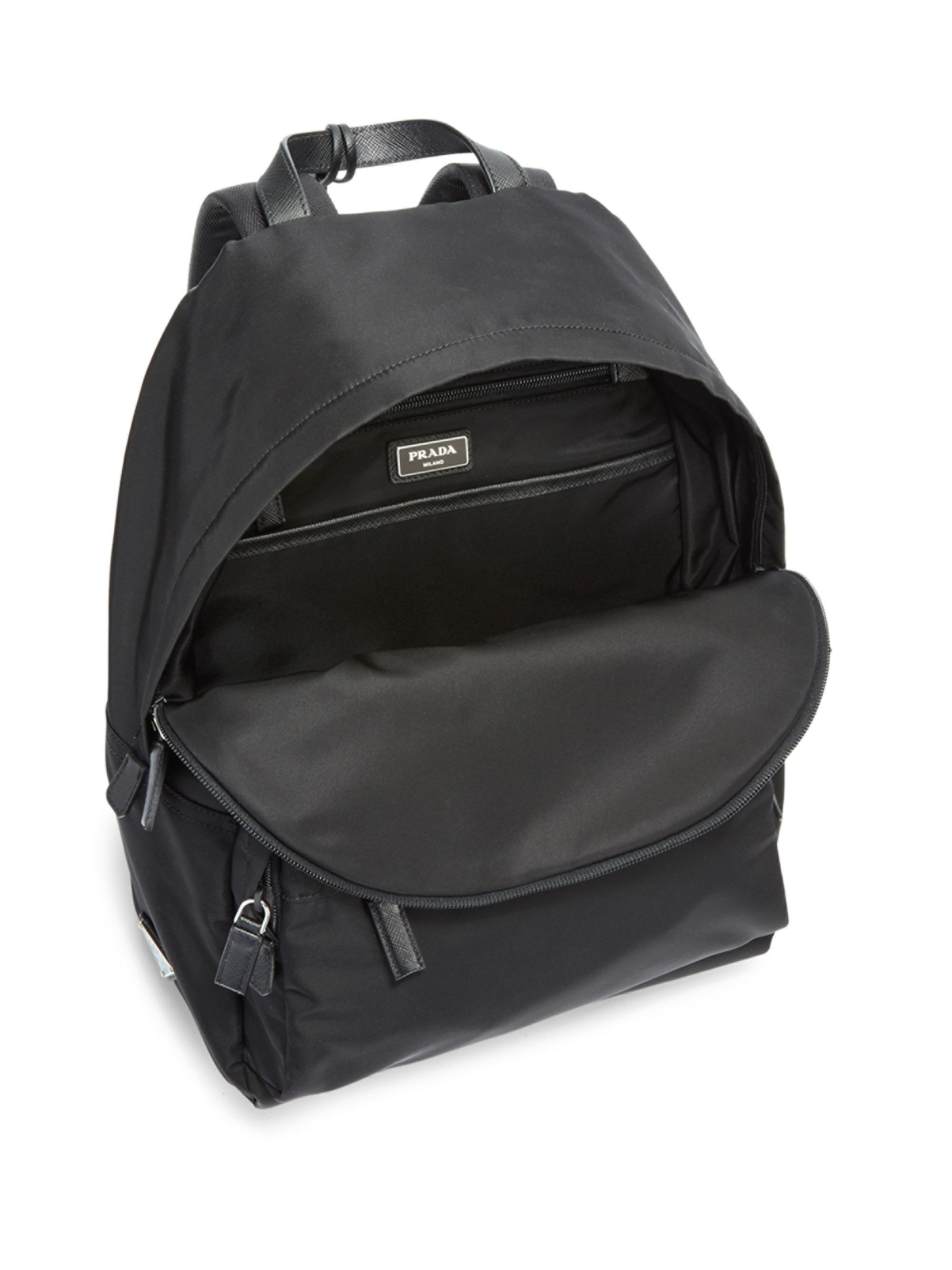 6fe91f37c5aa ... france prada zaino backpack in black for men lyst 3241c 1c295
