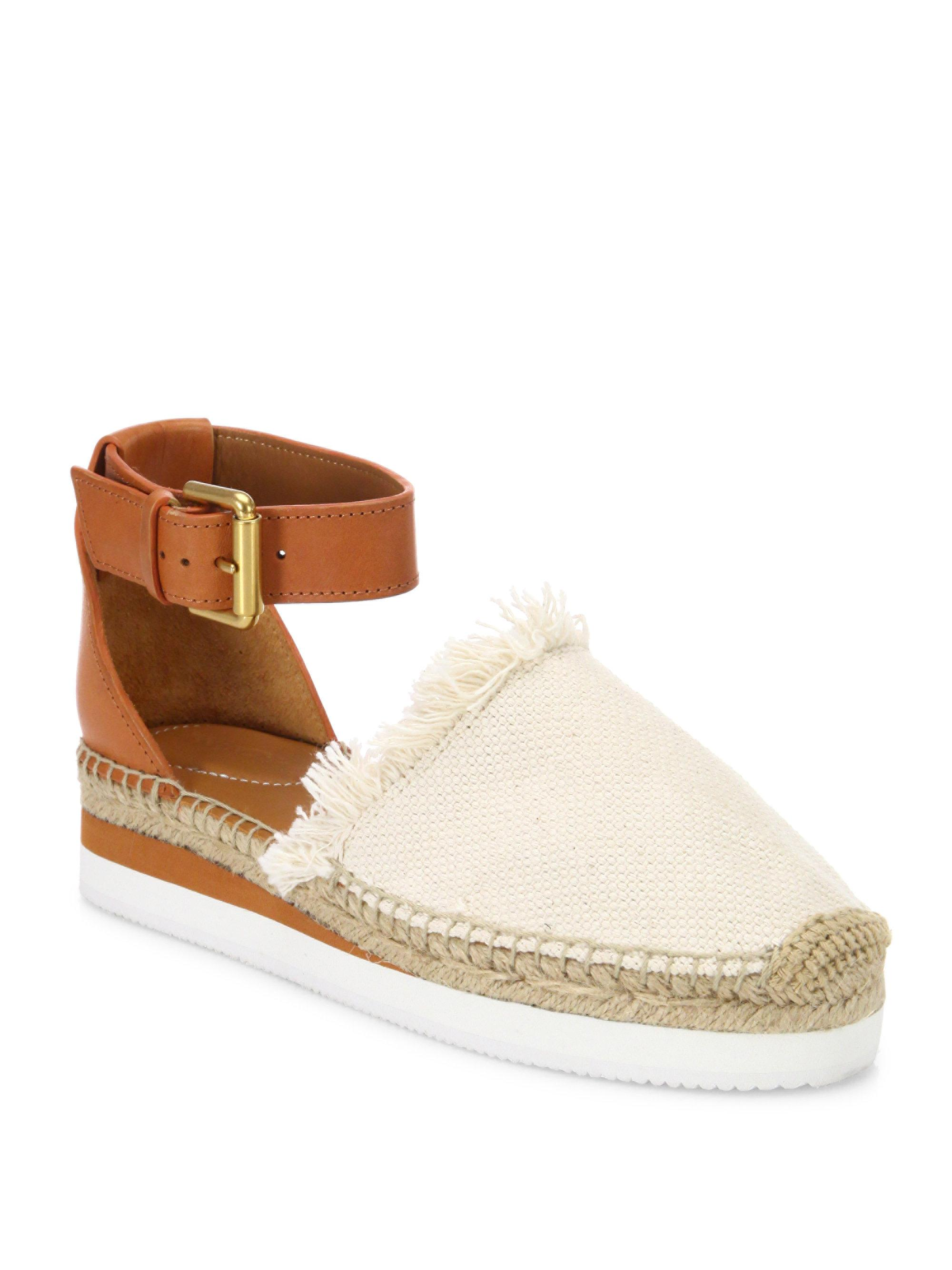 91fd260db7f Lyst - See By Chloé Sb28151 (natural Canvas calf) Women s Shoes in ...