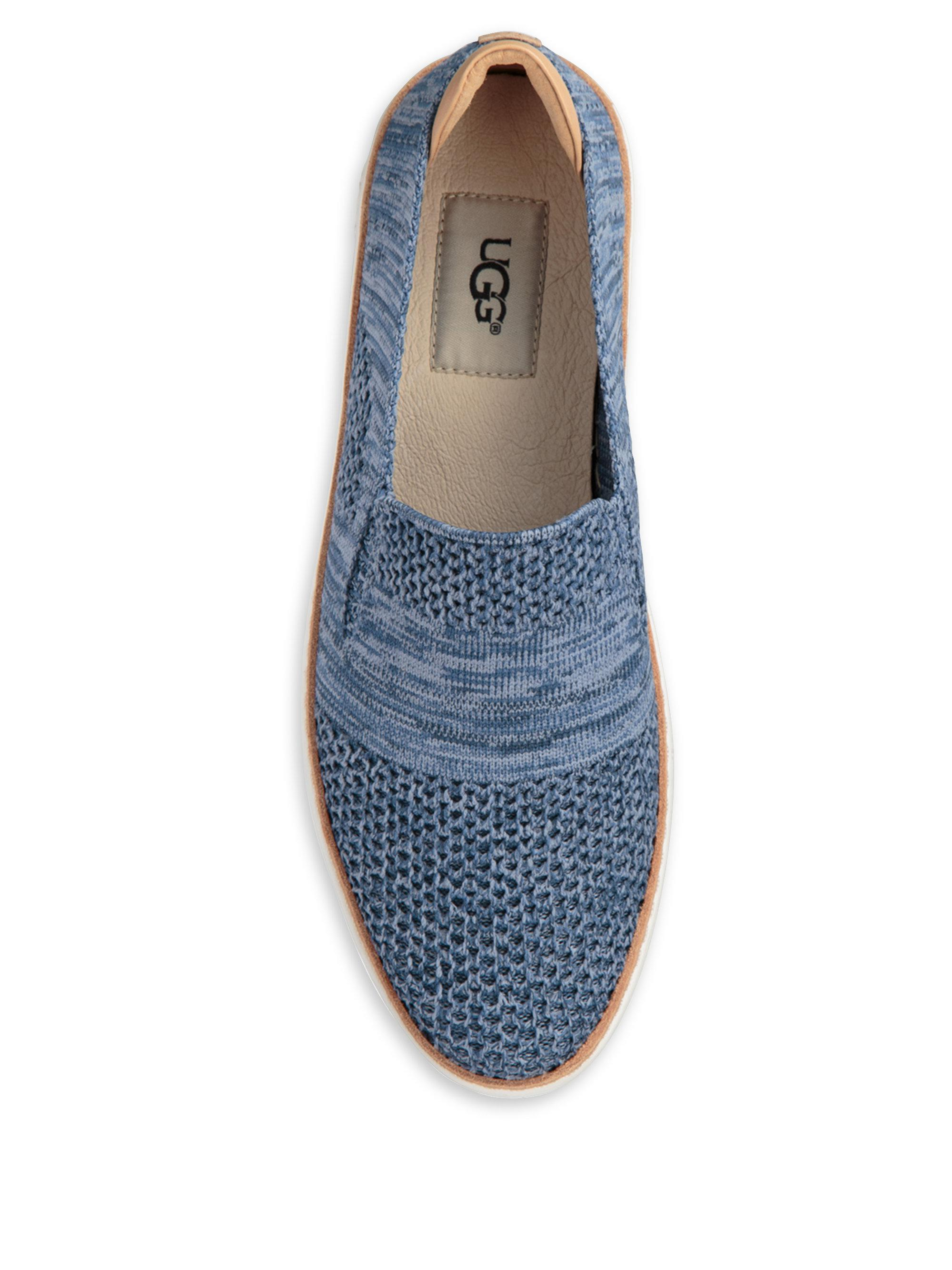 UGG Leather Sammy Slip-on Sneakers in