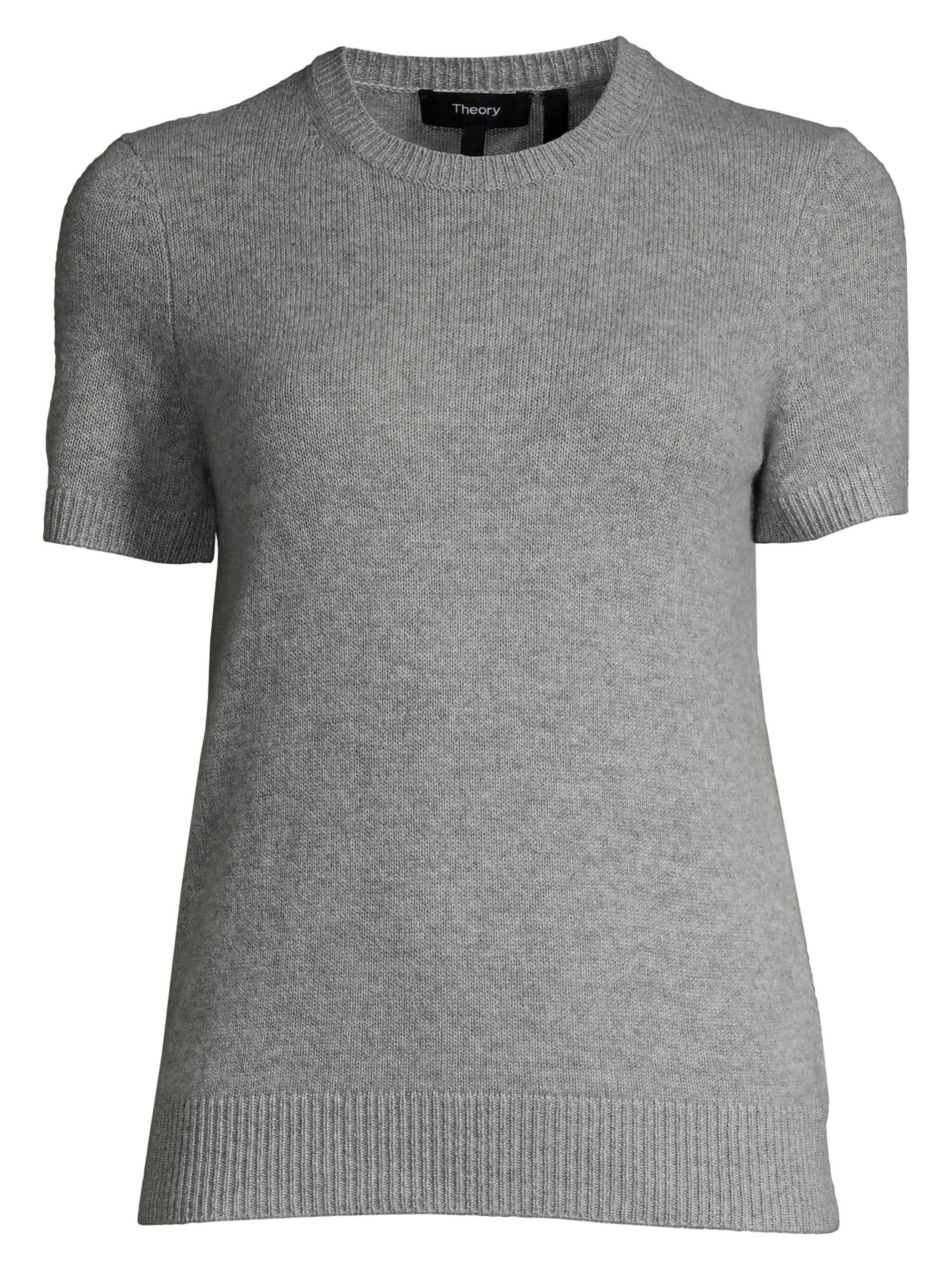 11906cf1541 Lyst - Theory Women's Basic Cashmere Tee - Opal Green - Size Large ...