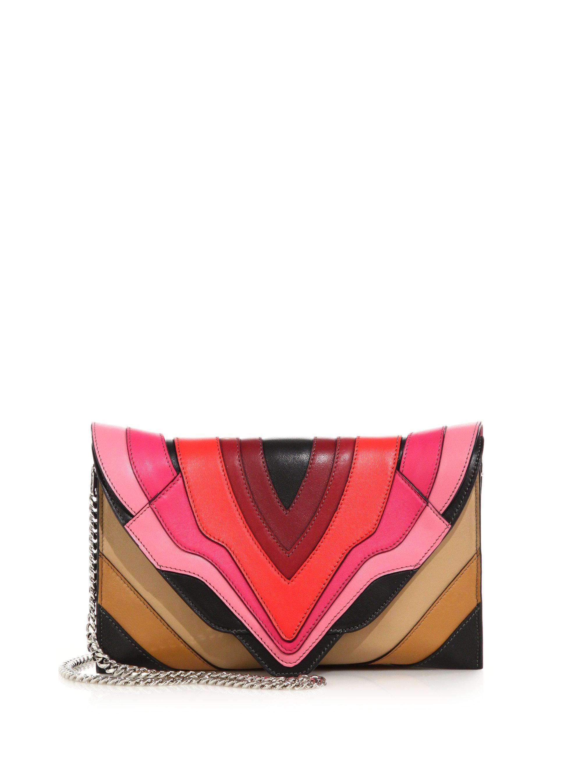 d6a93b4332 Lyst - Elena Ghisellini Selina Mignon Multicolor Crossbody Bag in Red