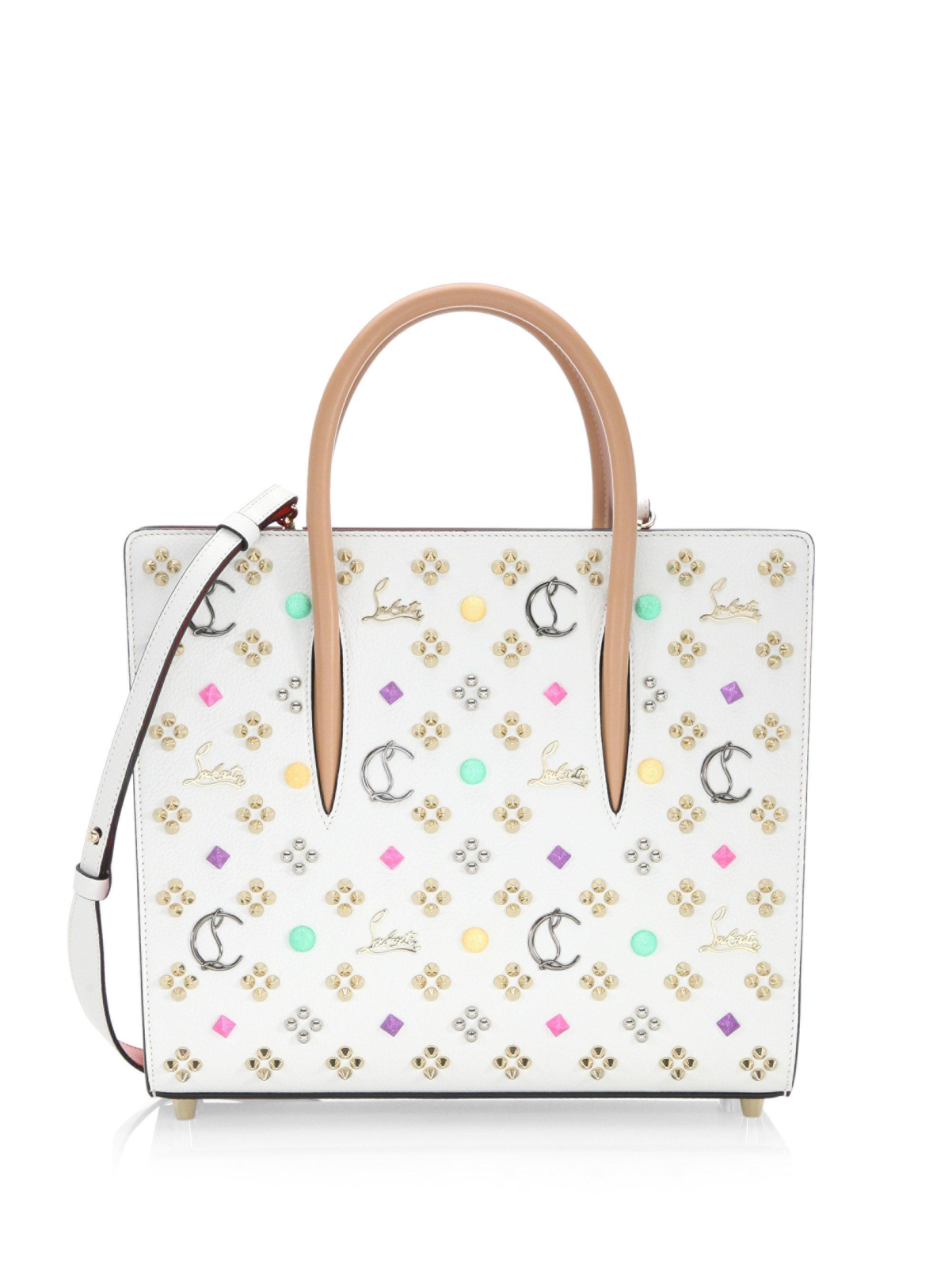 2c0eb10fd0c Christian Louboutin White Paloma Leather Top Handle Bag