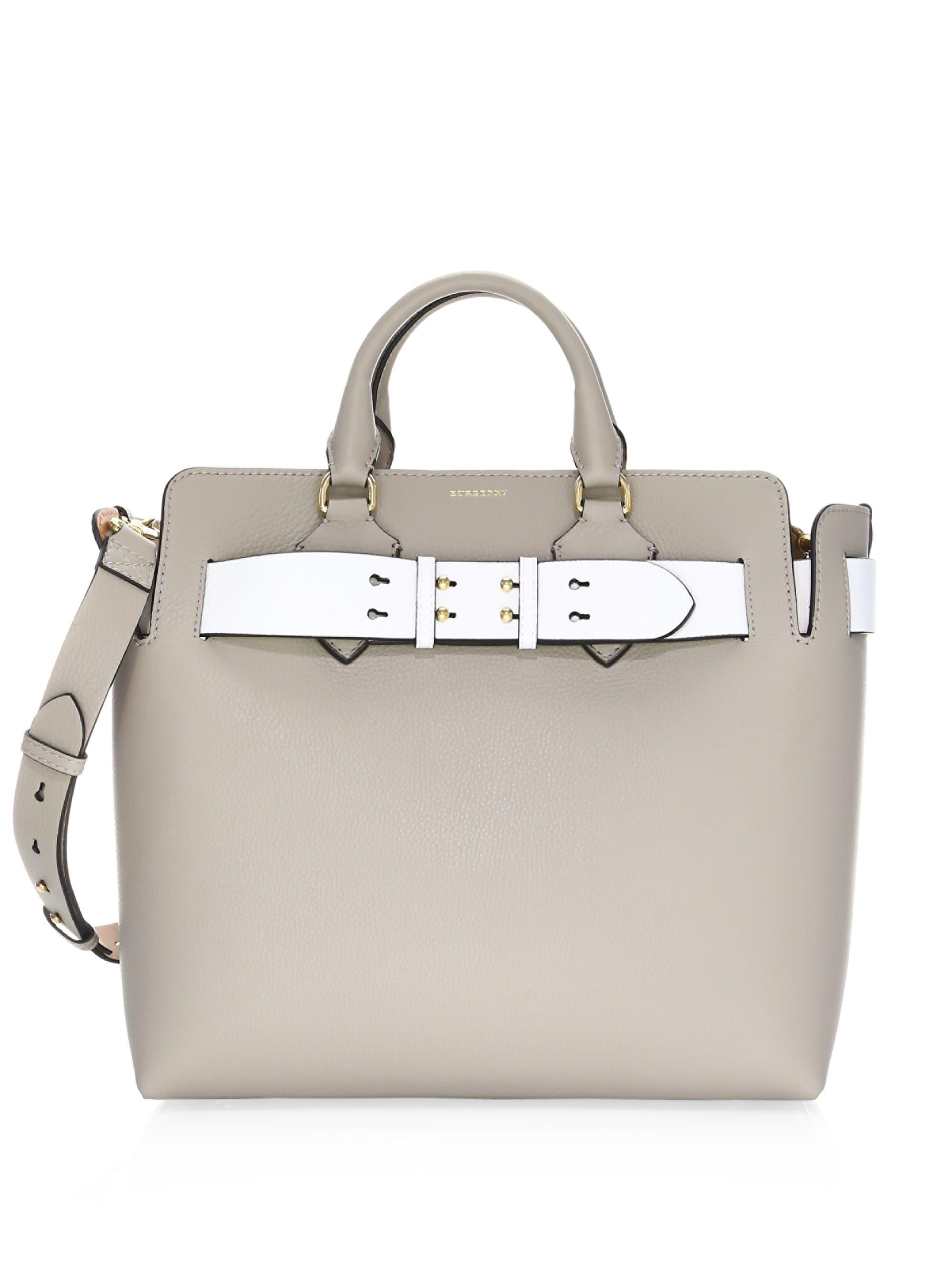 Lyst - Burberry Belt Bag Medium In Mineral Grey Marais Leather in ... e2979d79be76a