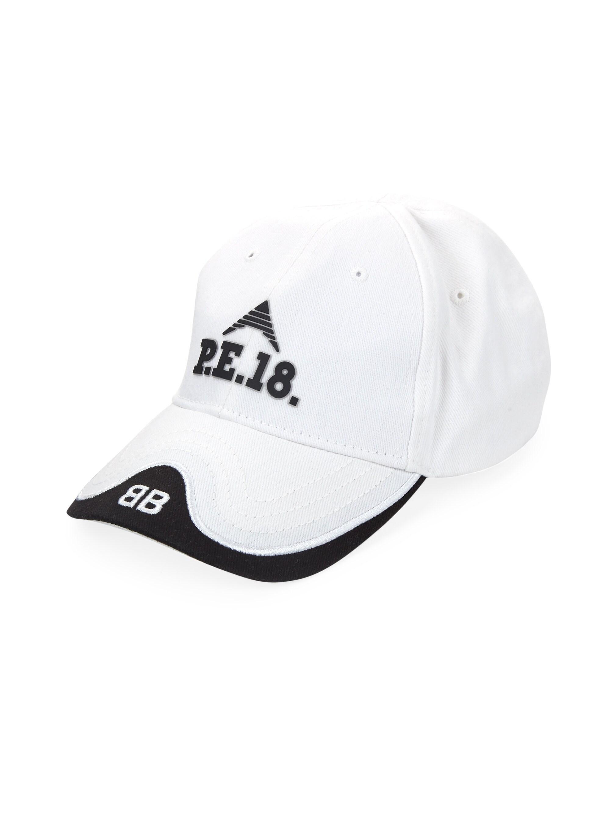56368d41 Balenciaga Women's P.e. 18 Baseball Cap - White Black in White - Lyst