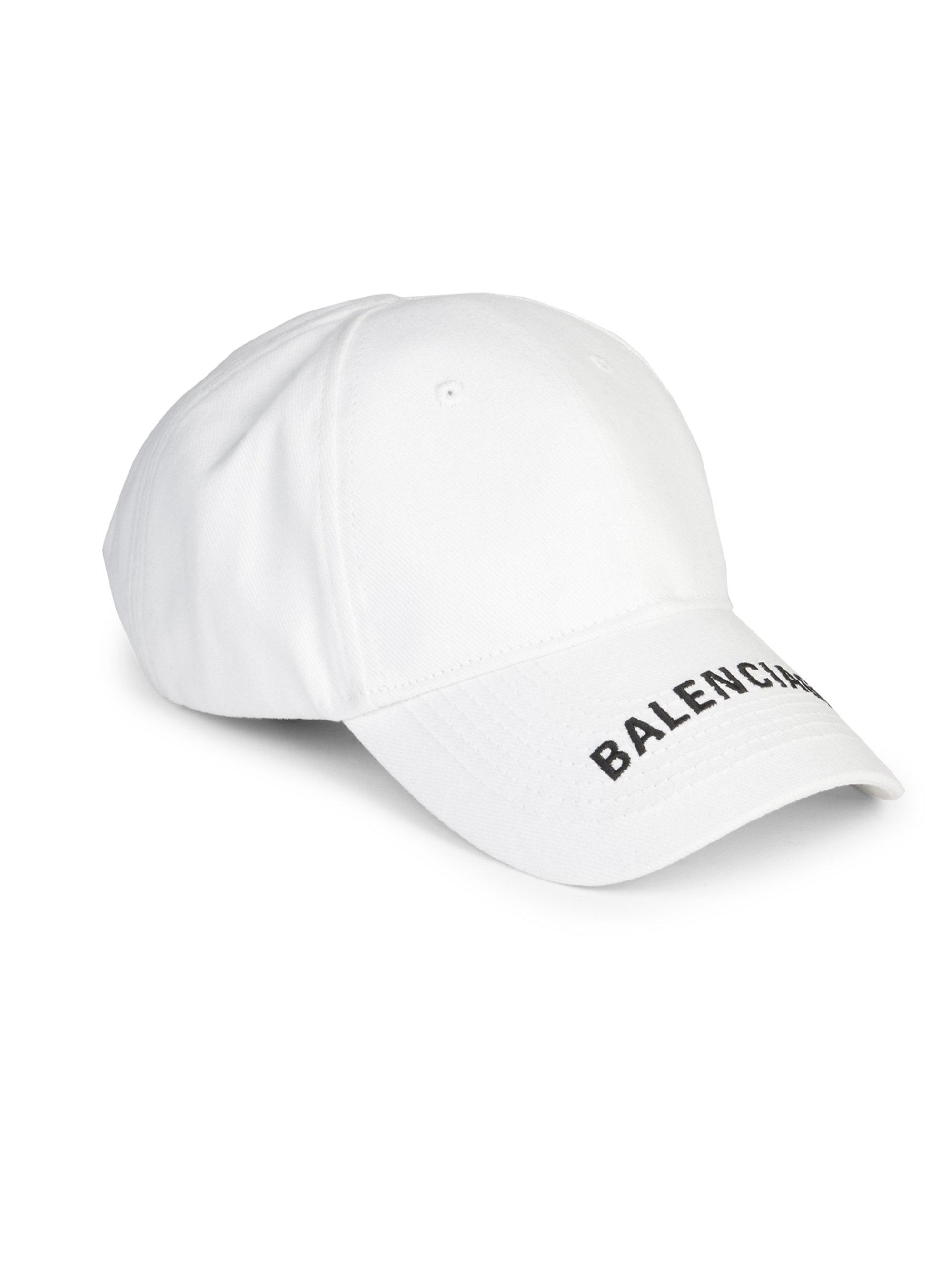 Balenciaga Cotton Cap in White - Lyst
