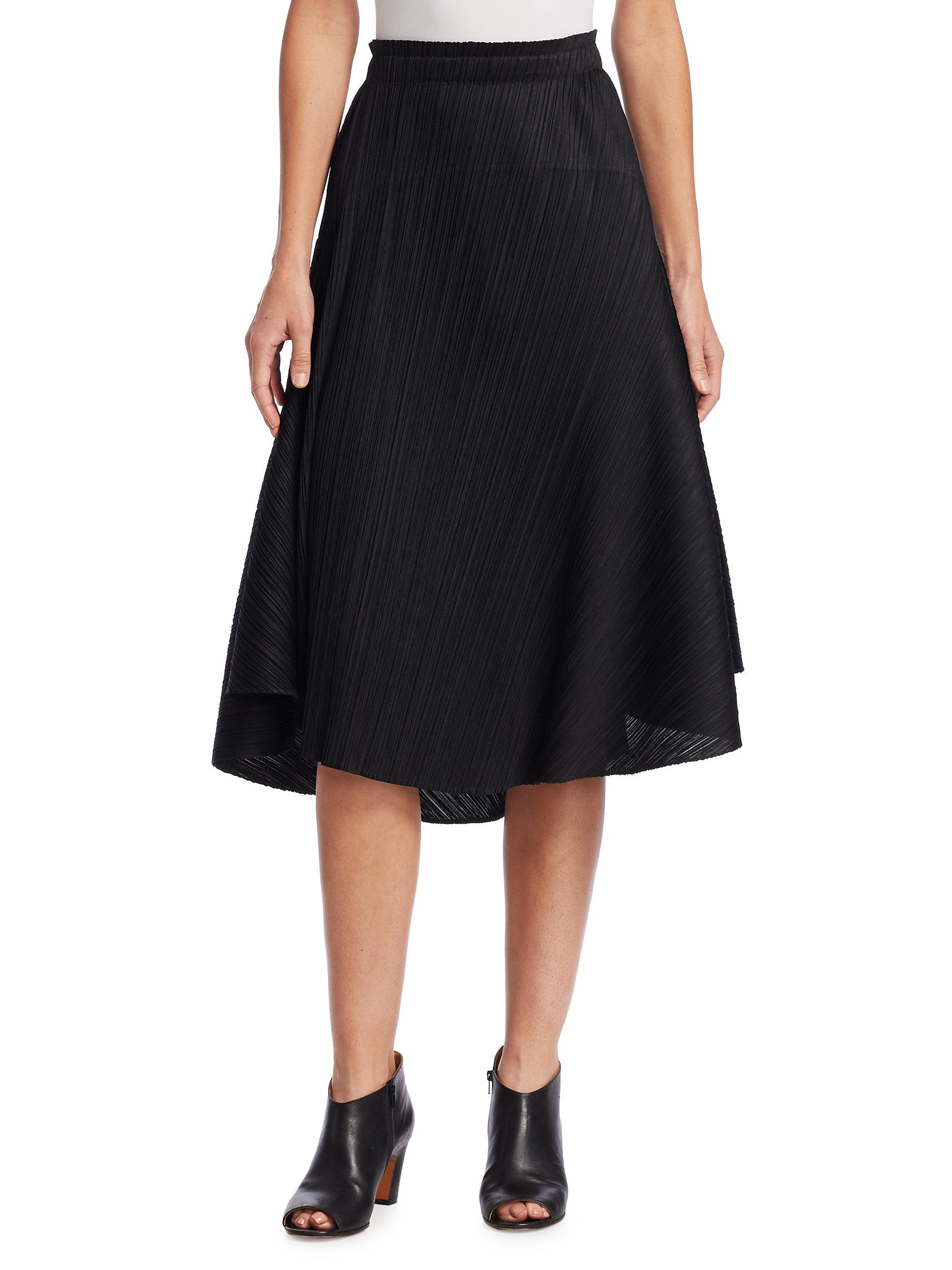 Lyst - Pleats Please Issey Miyake Pleated Circle Skirt in . 9412c41060d83