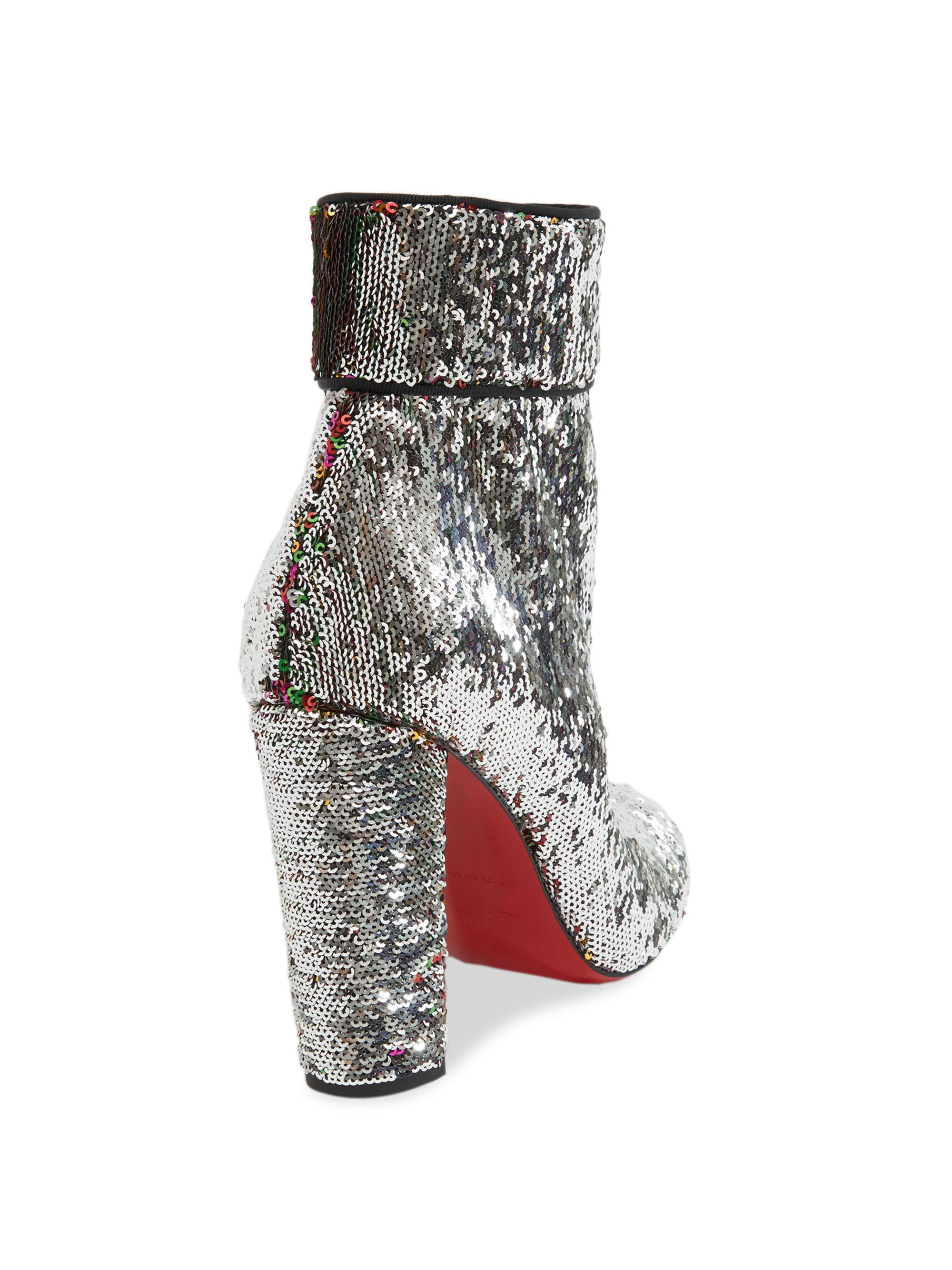 uk availability ff8bc 59313 Christian Louboutin Synthetic Moulamax 85 Sequin Block Heel ...