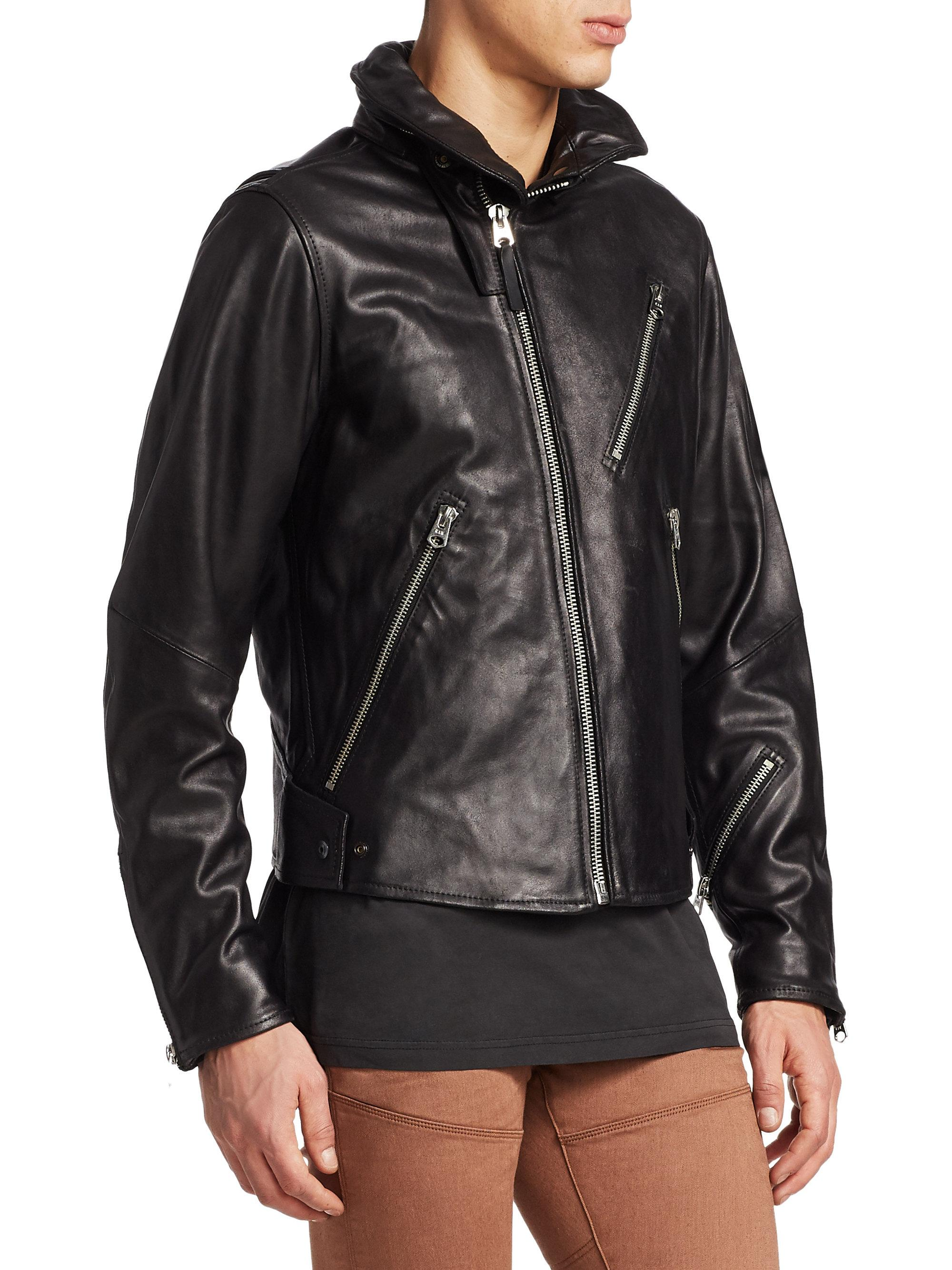cheap sale best sale differently G-Star RAW Empral 3d Leather Biker Jacket in Black for Men - Lyst