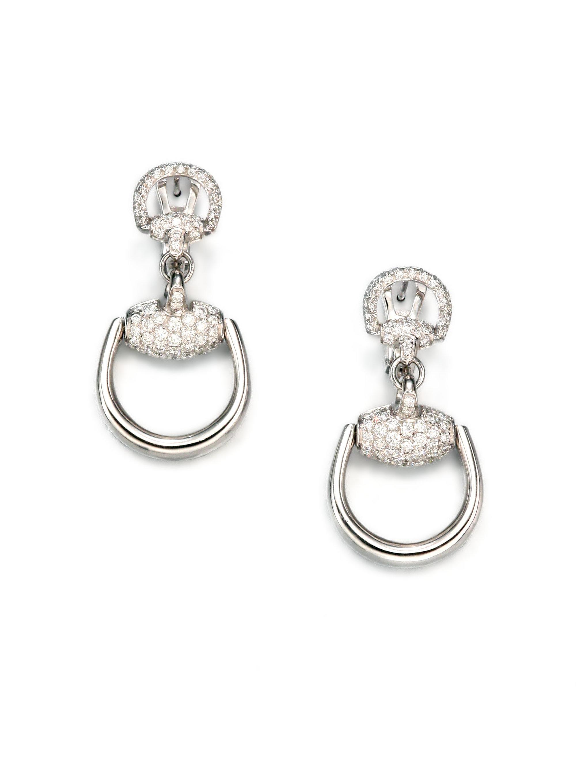 Elements Gold Vine Drop Earrings - White Gold/Gold Silver (Colour) jXdVhH4Xy