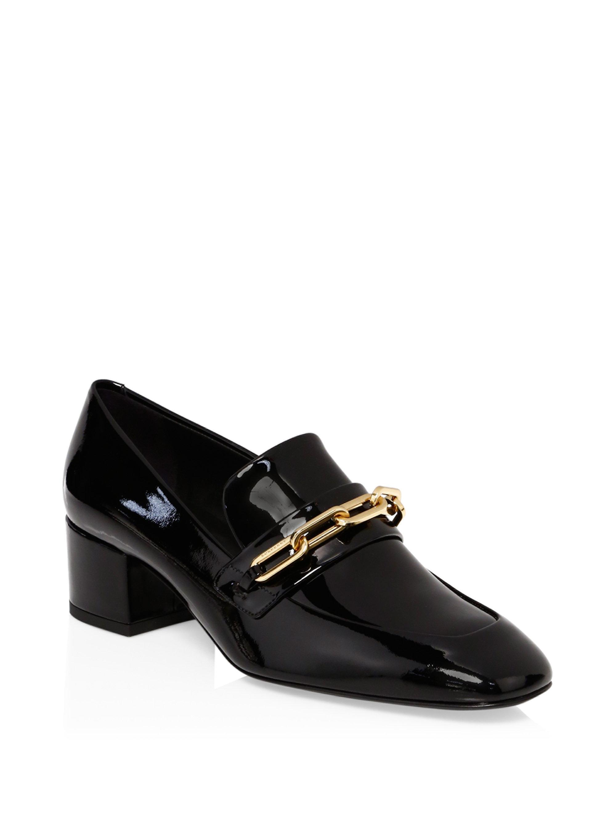 Burberry Link Detail Patent Leather