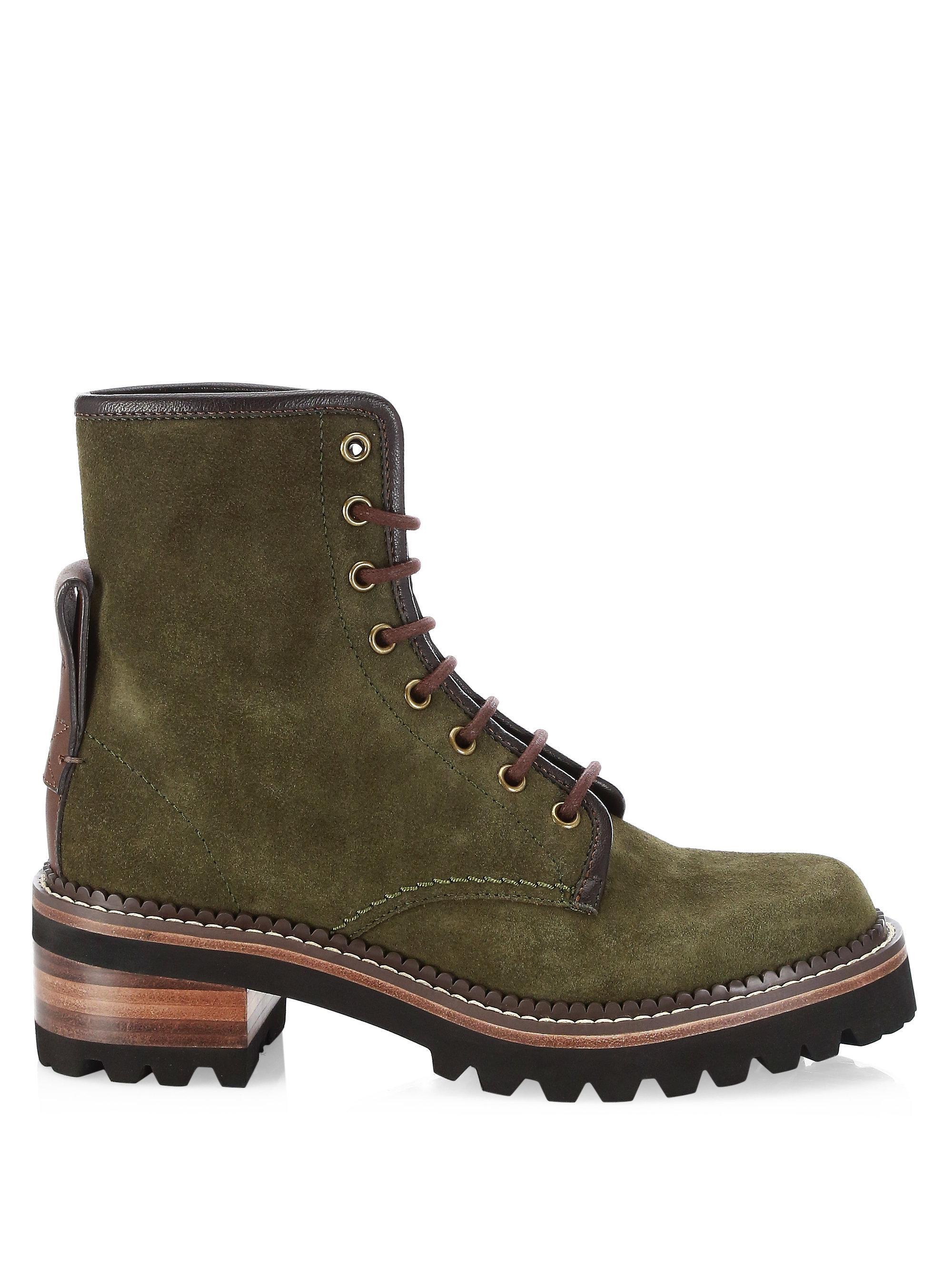 Chloé Marta Lace-Up Boots UlG3wf3Aj